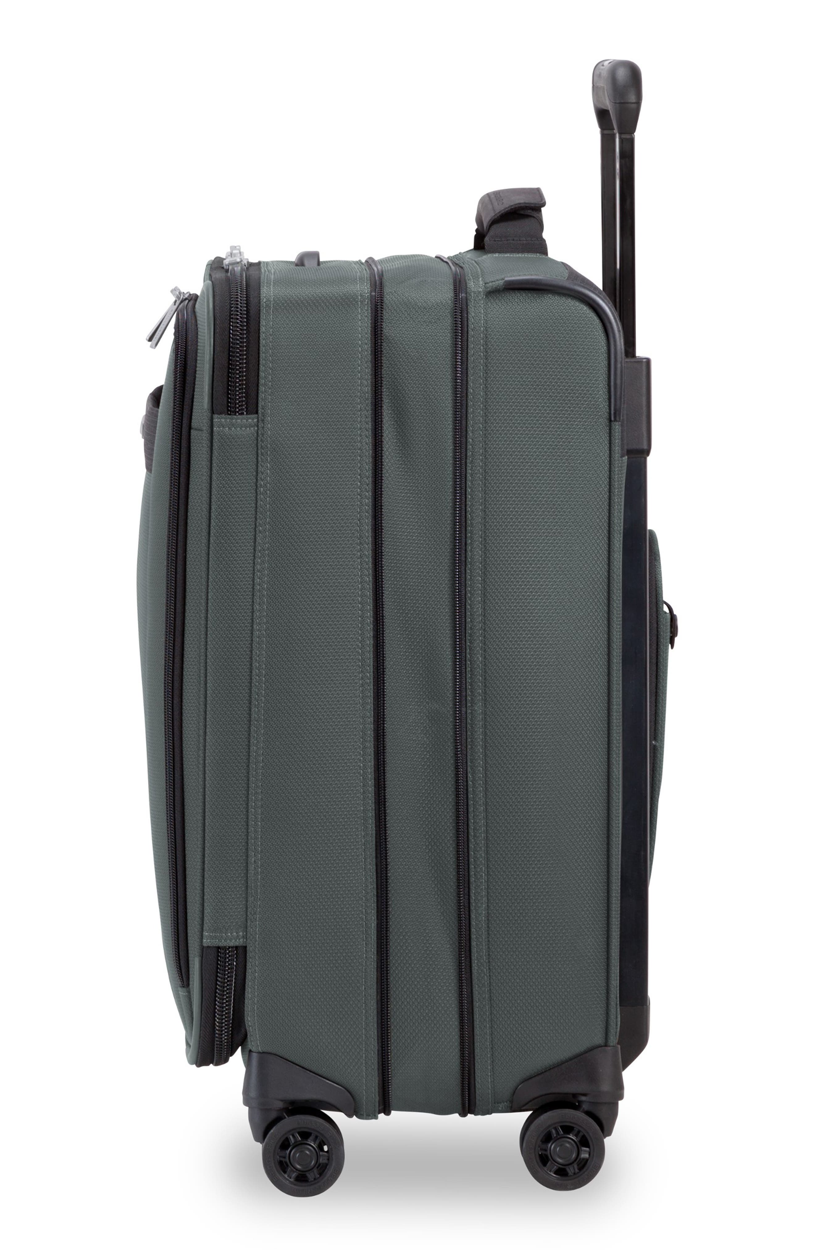 BRIGGS & RILEY, Transcend Tall Expandable Wheeled Suitcase, Alternate thumbnail 3, color, SLATE GREY