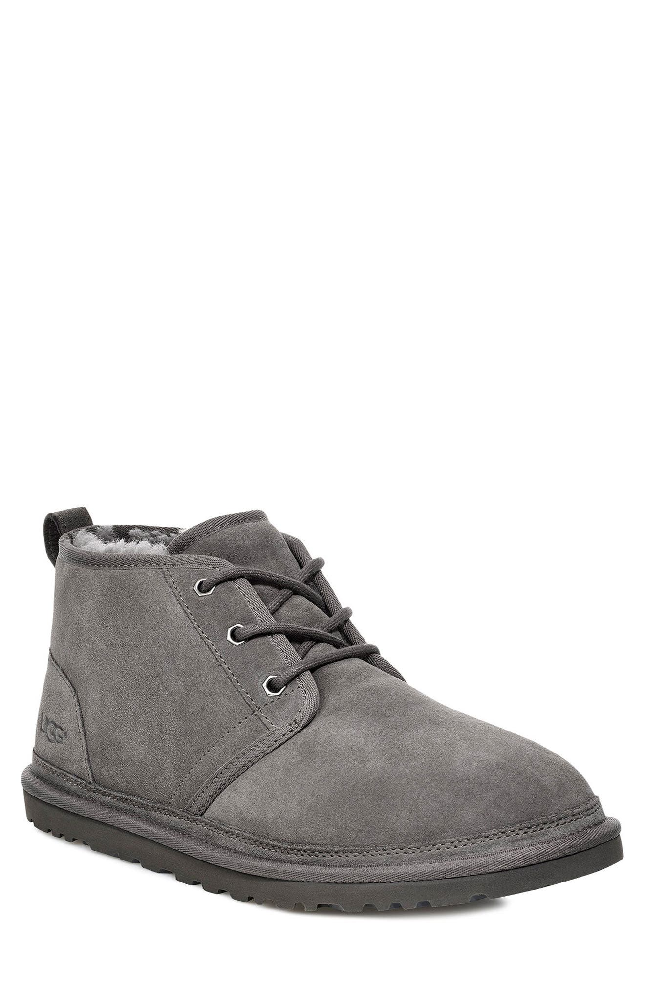 UGG<SUP>®</SUP>, Neumel Chukka Boot, Main thumbnail 1, color, CHARCOAL SUEDE