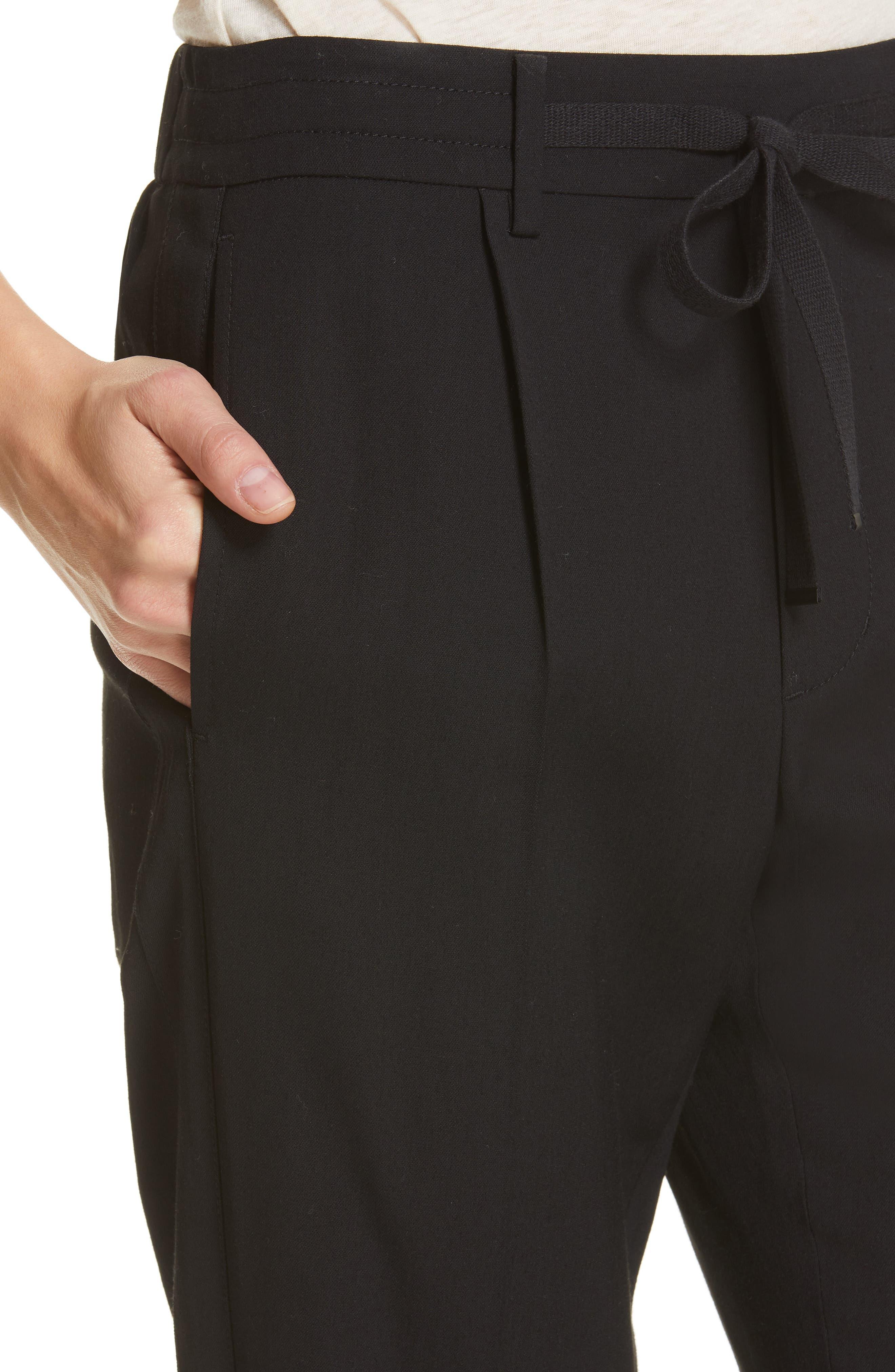 VINCE, Cuffed Jogger Pants, Alternate thumbnail 5, color, BLACK