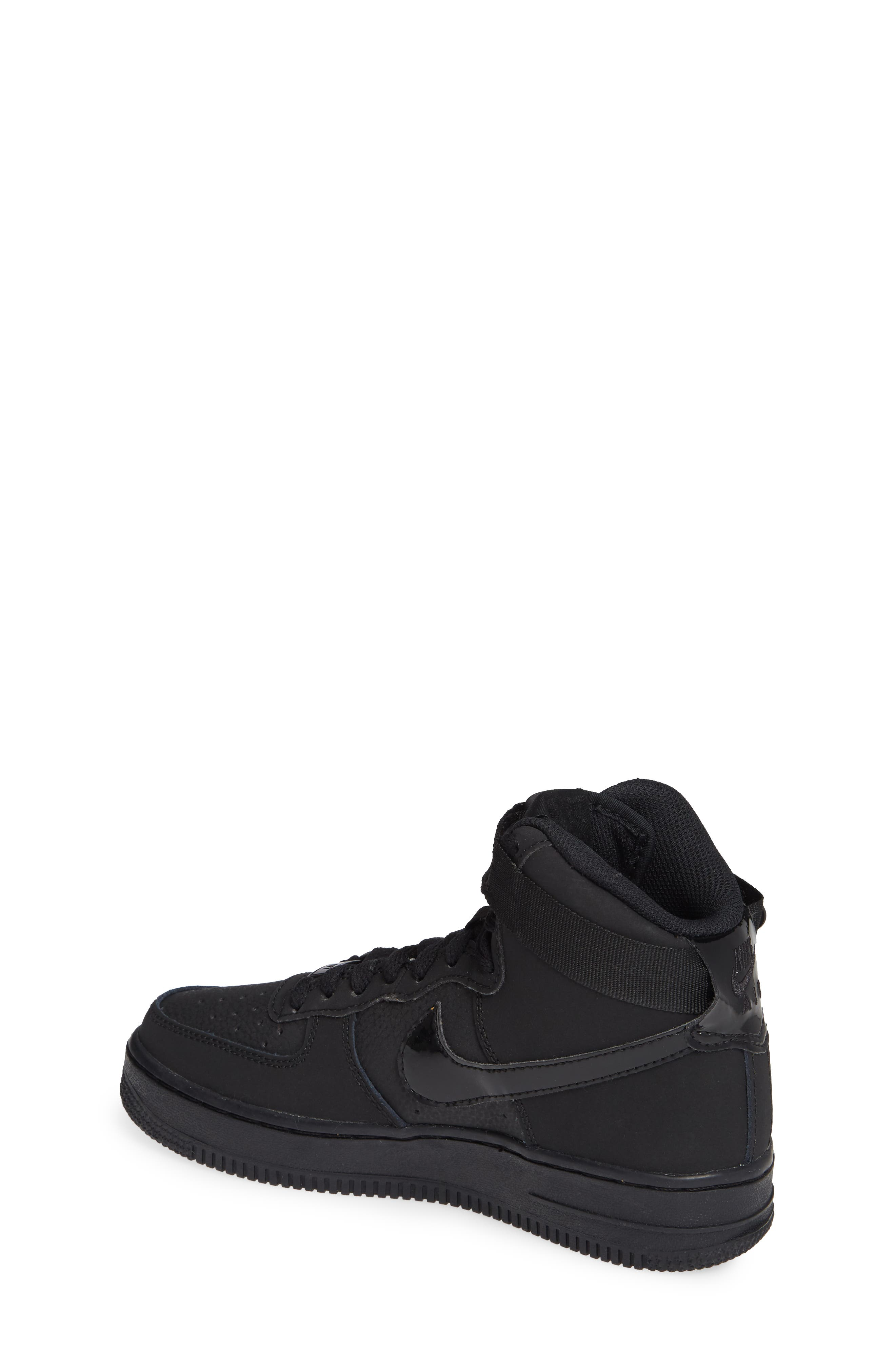 NIKE, Air Force 1 High Top Sneaker, Alternate thumbnail 2, color, 001