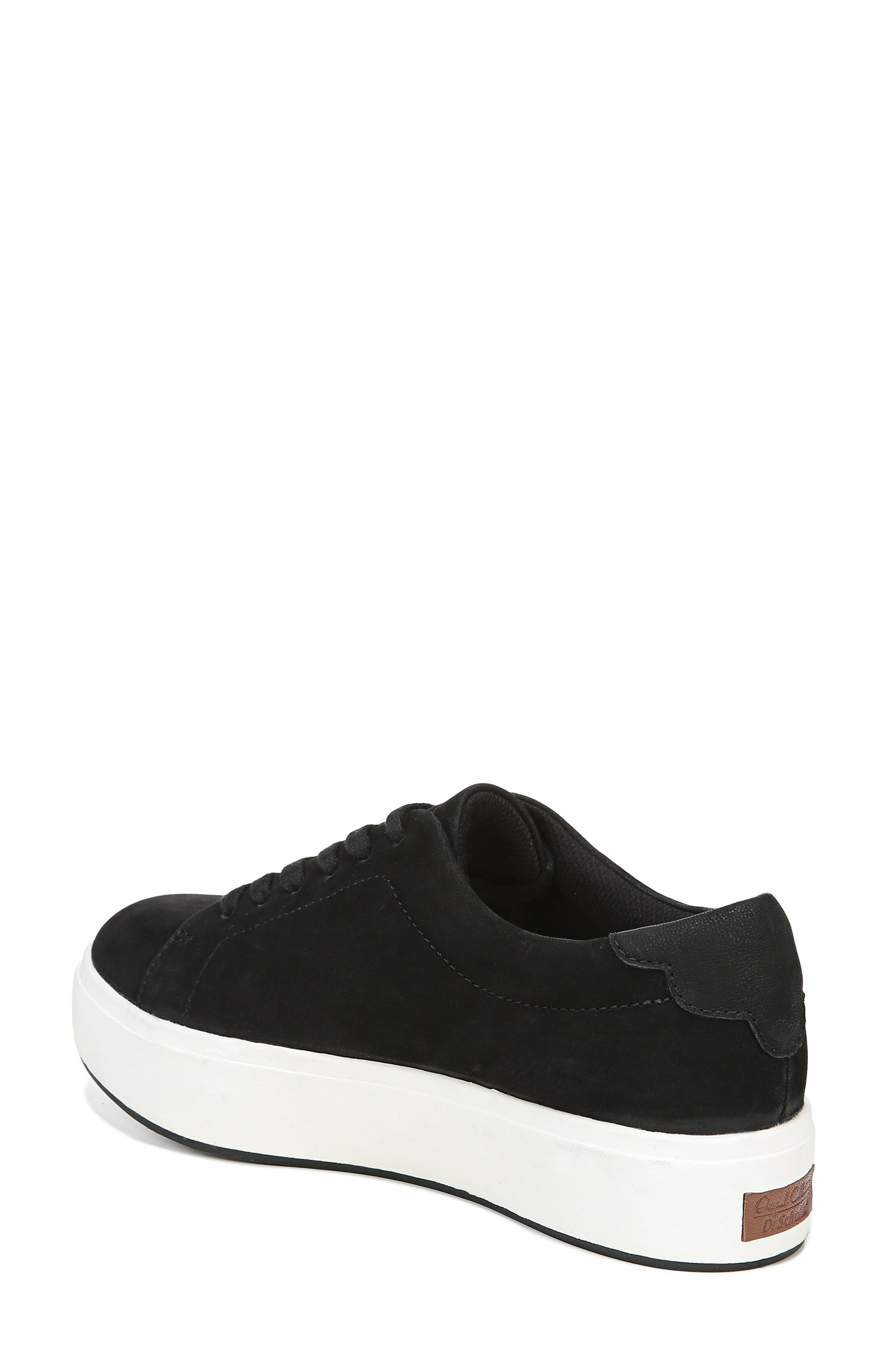 DR. SCHOLL'S, Abbot Luxe Platform Sneaker, Alternate thumbnail 2, color, BLACK SUEDE