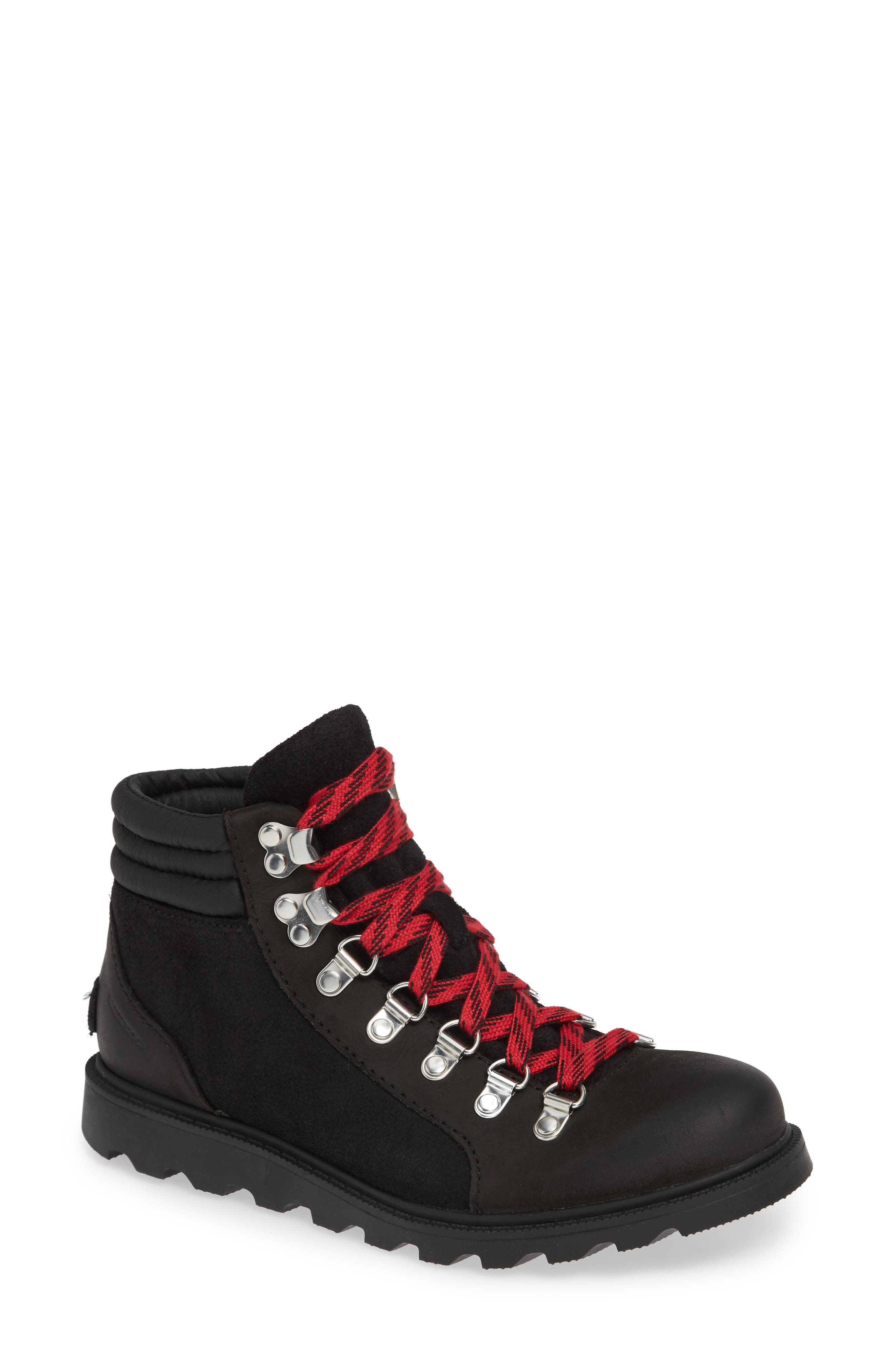 SOREL, Ainsley Conquest Waterproof Boot, Main thumbnail 1, color, BLACK/ BLACK