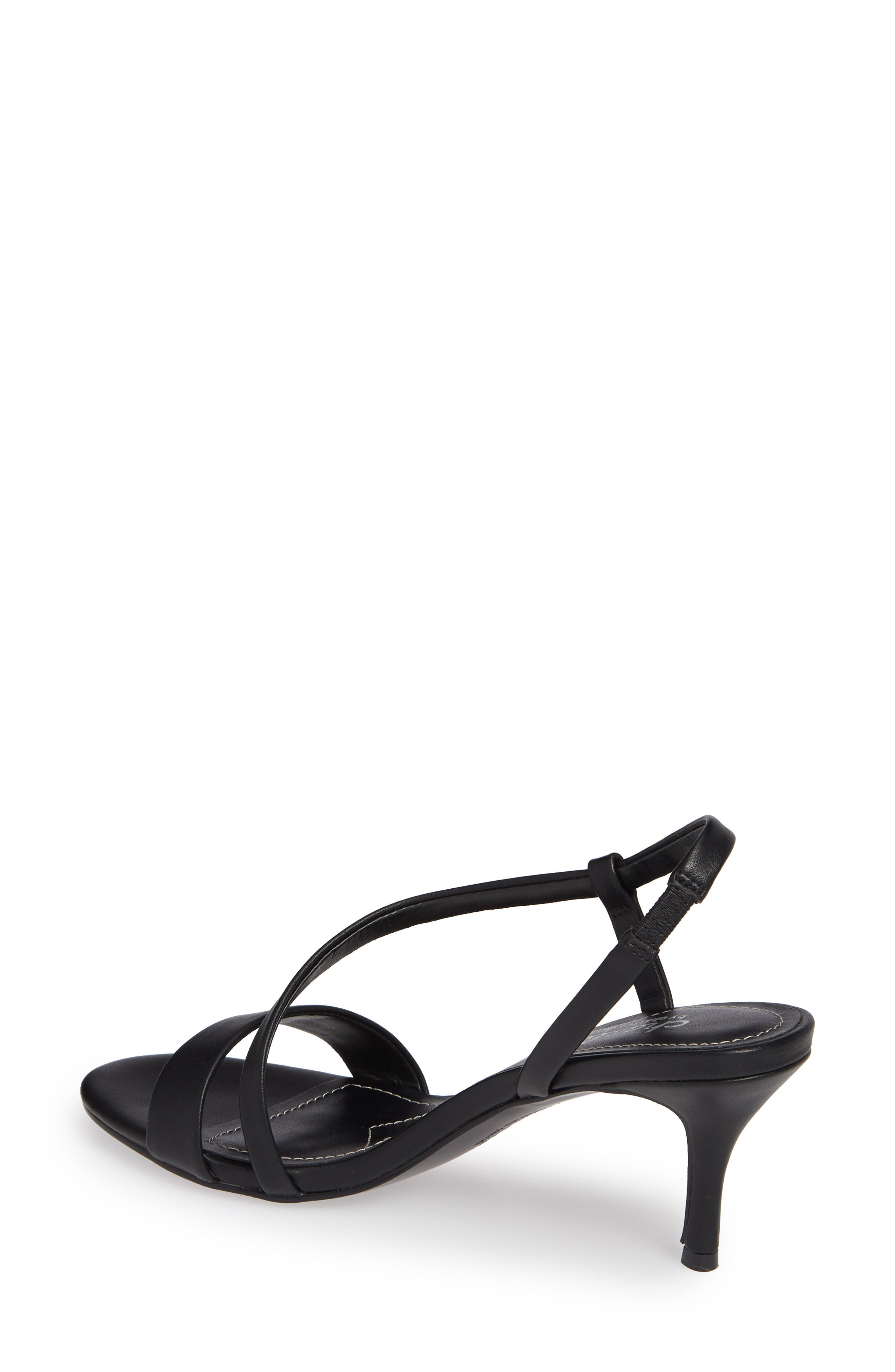 CHARLES BY CHARLES DAVID, Bermuda Asymmetrical Sandal, Alternate thumbnail 2, color, BLACK FAUX LEATHER