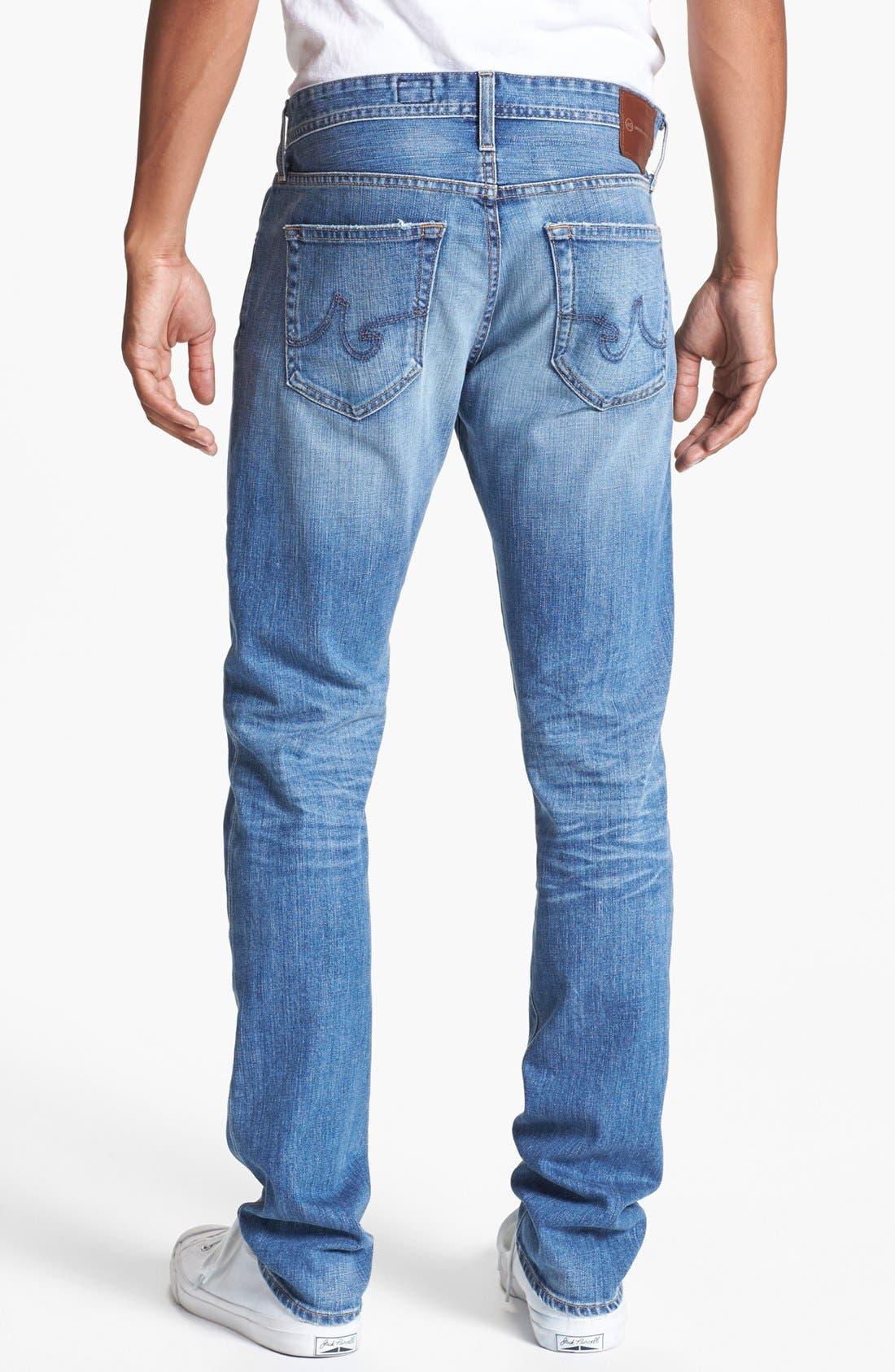 AG, 'Dylan' Slim Skinny Leg Jeans, Alternate thumbnail 3, color, 454