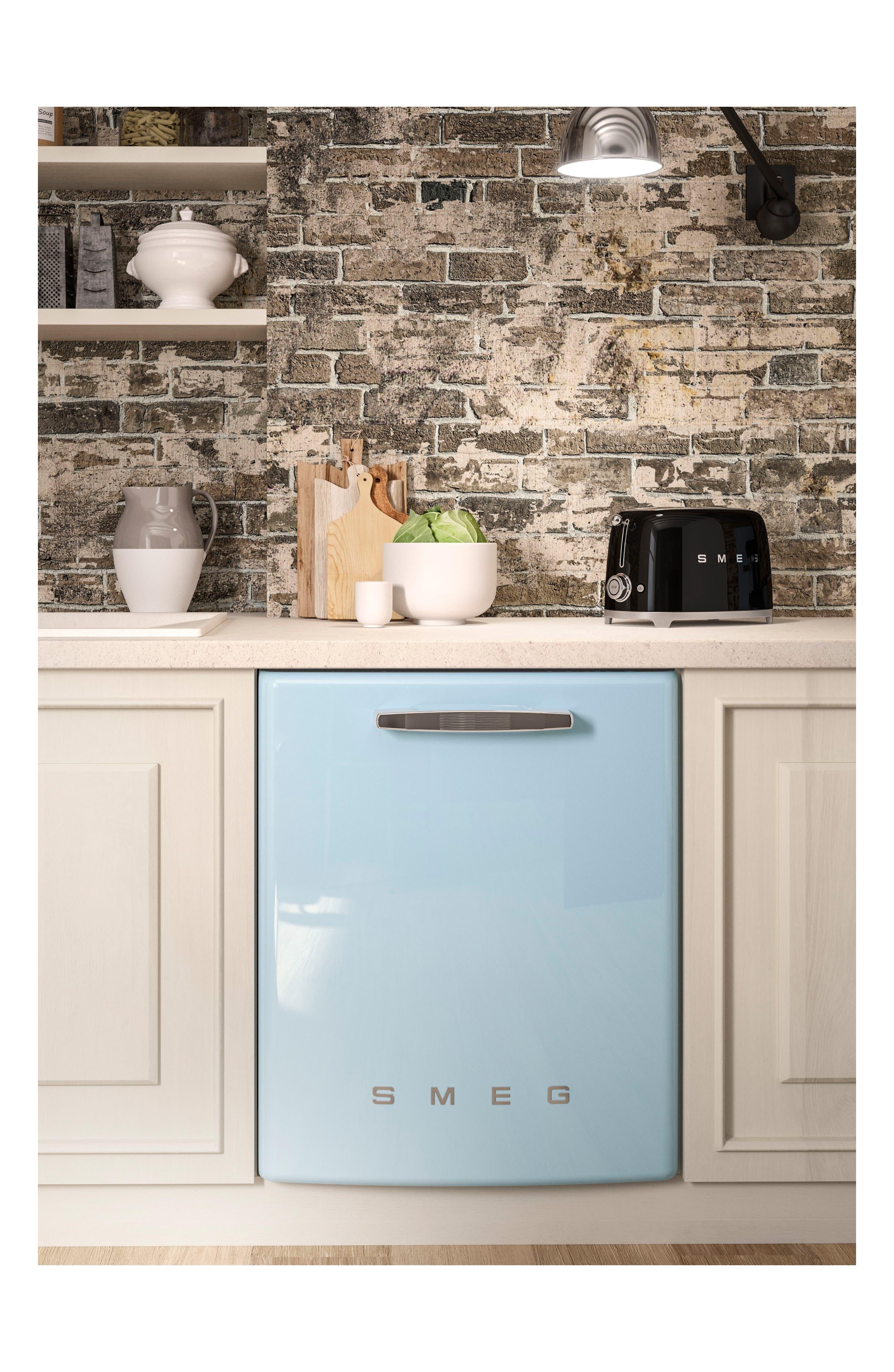 SMEG, 50s Retro Style Two-Slice Toaster, Alternate thumbnail 5, color, BLACK