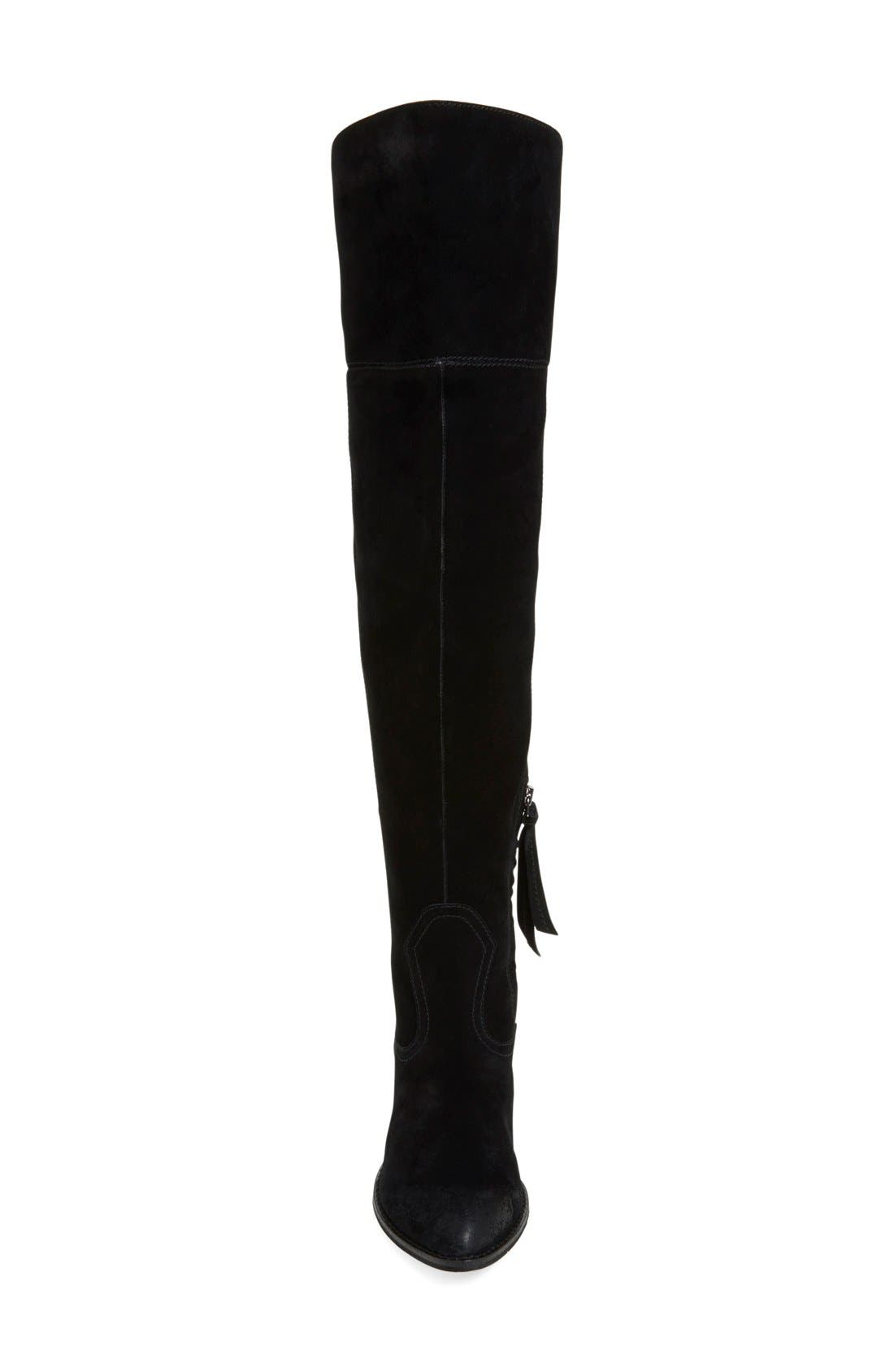 DOLCE VITA, 'Silas' Over the Knee Boot, Alternate thumbnail 2, color, 001