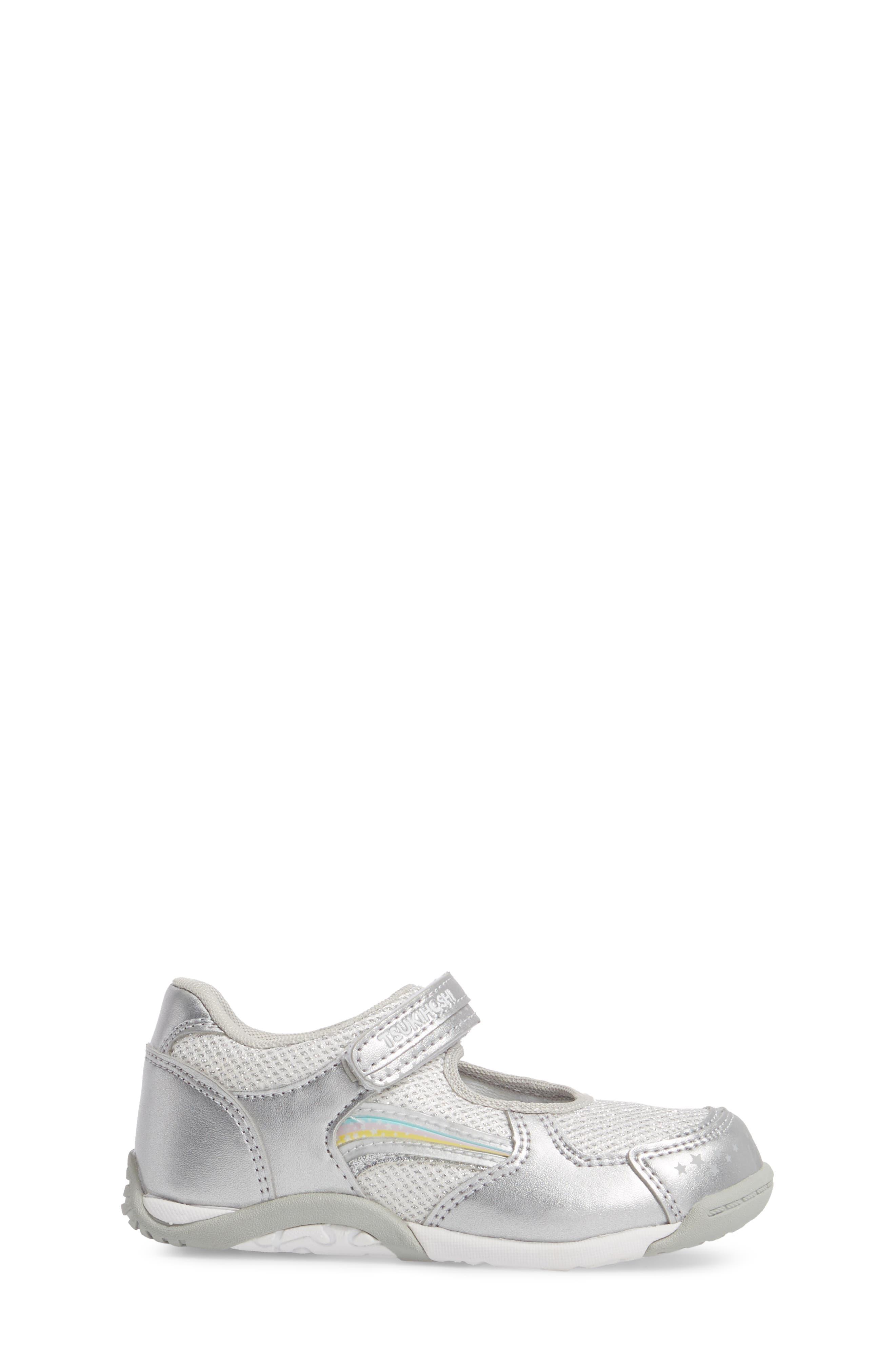 TSUKIHOSHI, Twinkle Washable Sneaker, Alternate thumbnail 3, color, SILVER/ SILVER