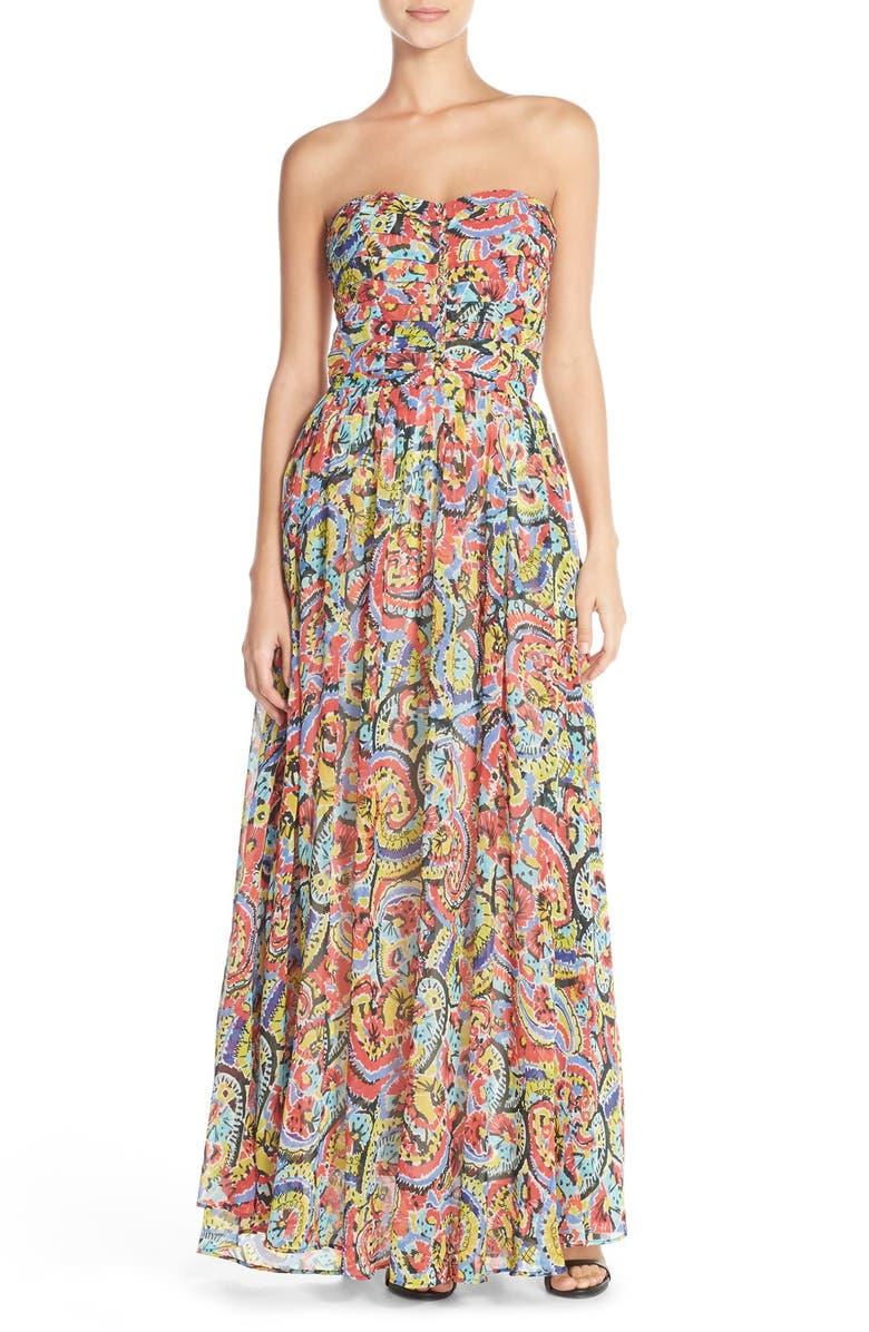 e782f5c7d7f1f Charlie Jade Strapless Silk Chiffon Maxi Dress | Nordstrom