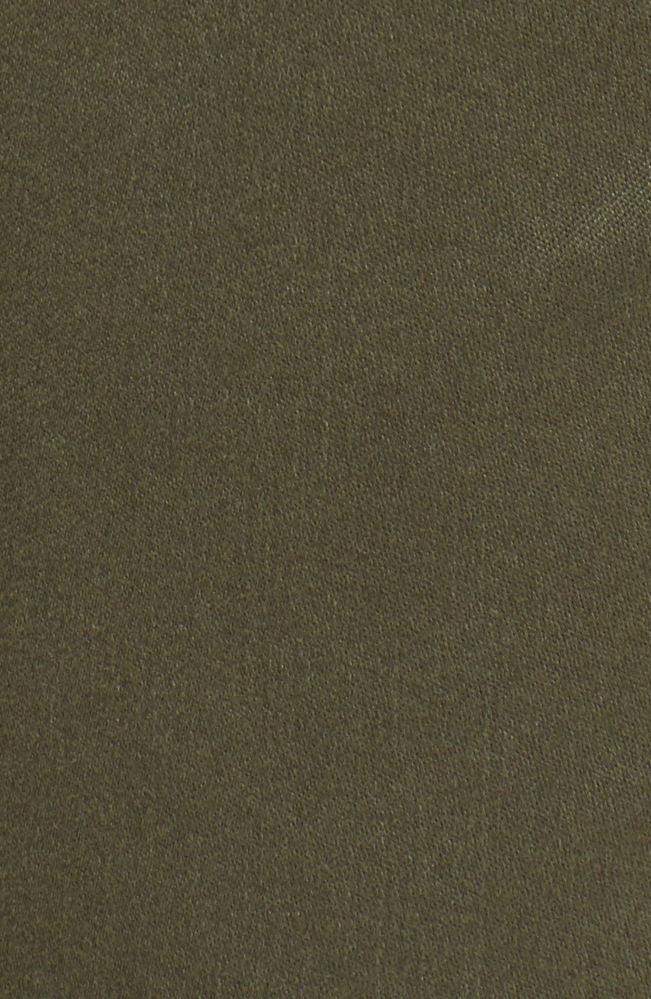 TINSEL, Cuffed Sateen Skinny Pants, Alternate thumbnail 6, color, DUSTY OLIVE