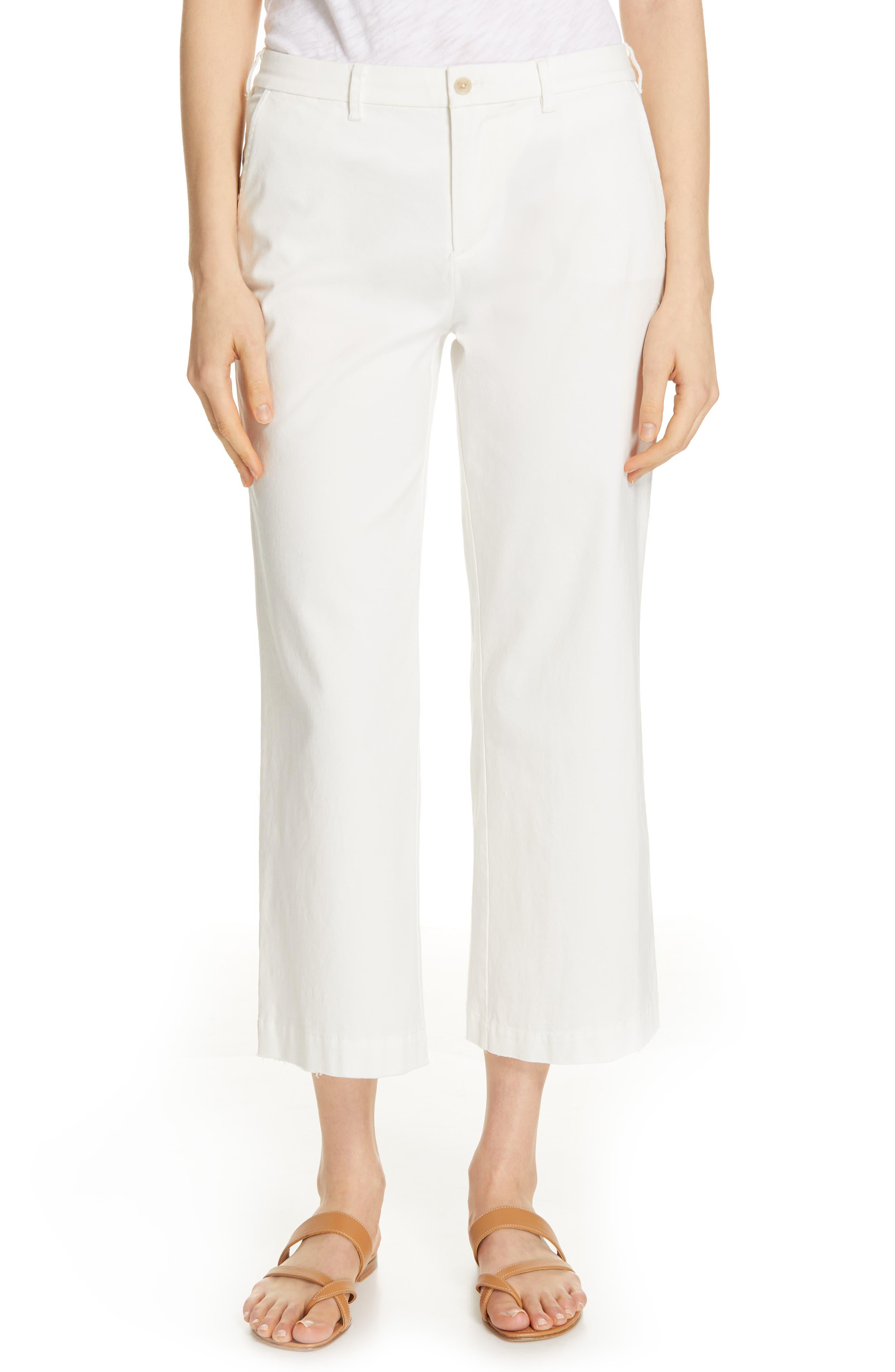ATM ANTHONY THOMAS MELILLO Enzyme Wash Crop Boyfriend Pants, Main, color, WHITE