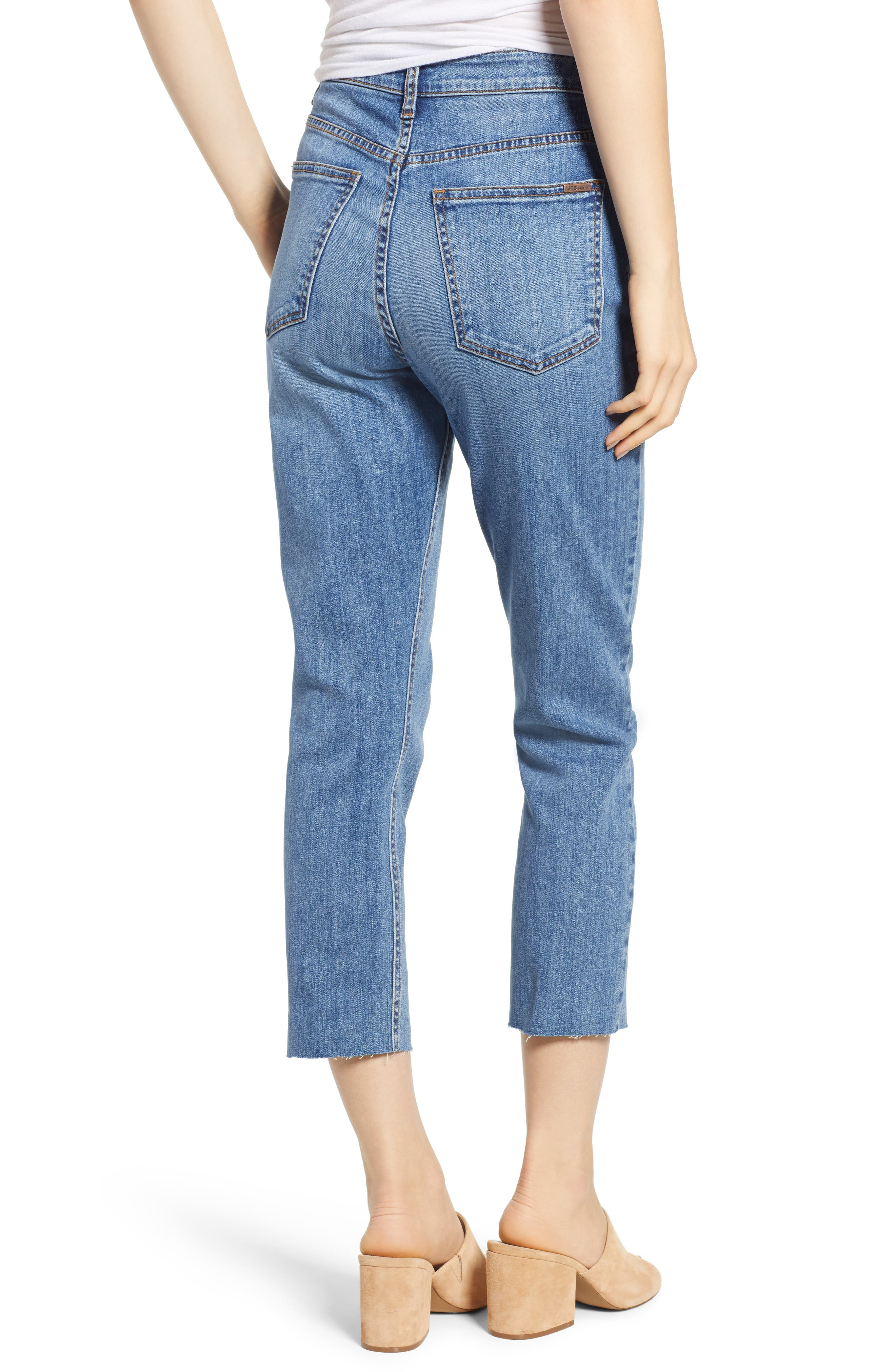 STS BLUE, Alicia High Waist Crop Mom Jeans, Alternate thumbnail 2, color, PROCTOR