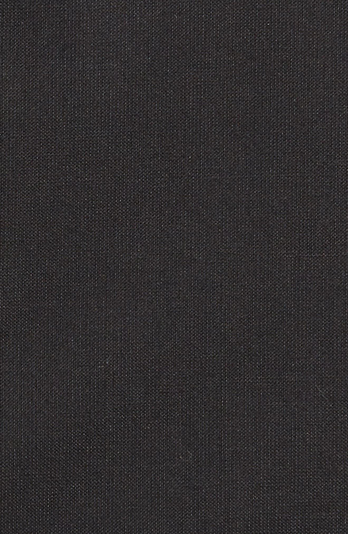 NORDSTROM MEN'S SHOP, Tech-Smart Traditional Fit Stretch Pinpoint Dress Shirt, Alternate thumbnail 6, color, BLACK ROCK