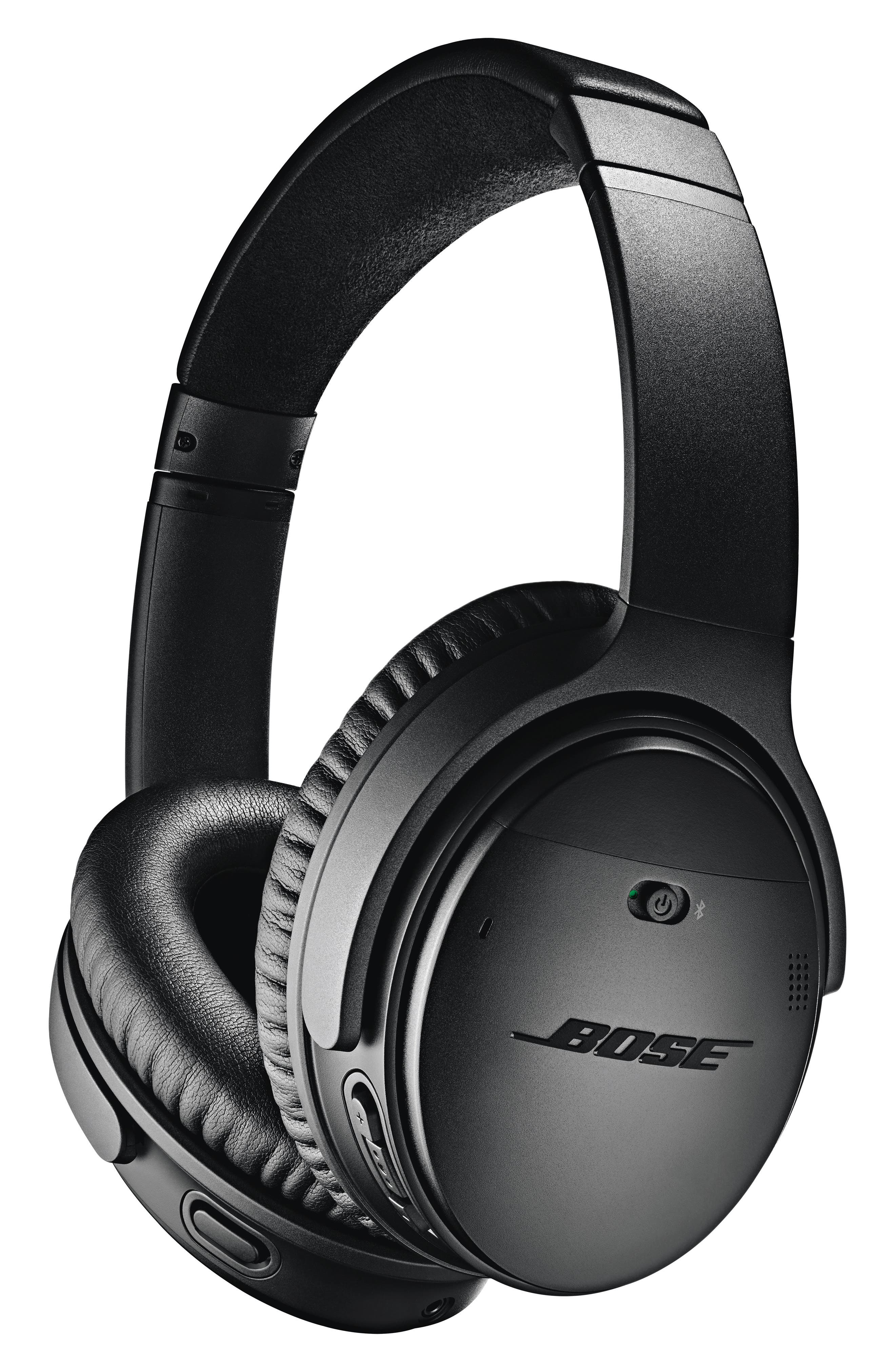 BOSE<SUP>®</SUP>, QuietComfort<sup>®</sup> 35 Wireless Headphones II with Google Assistant, Main thumbnail 1, color, BLACK
