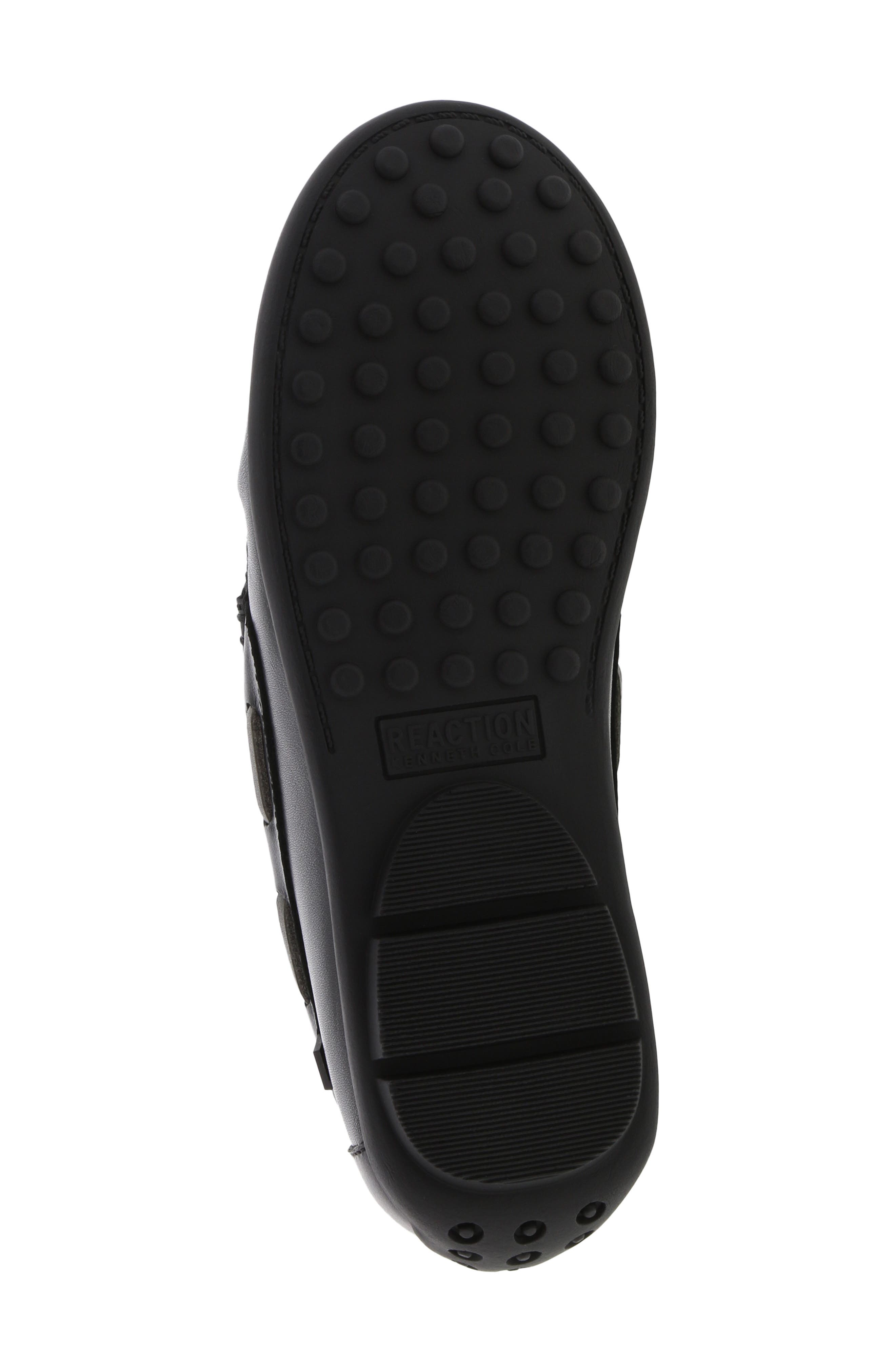 REACTION KENNETH COLE, Helio Shift Driving Moccasin, Alternate thumbnail 6, color, BLACK SMOOTH