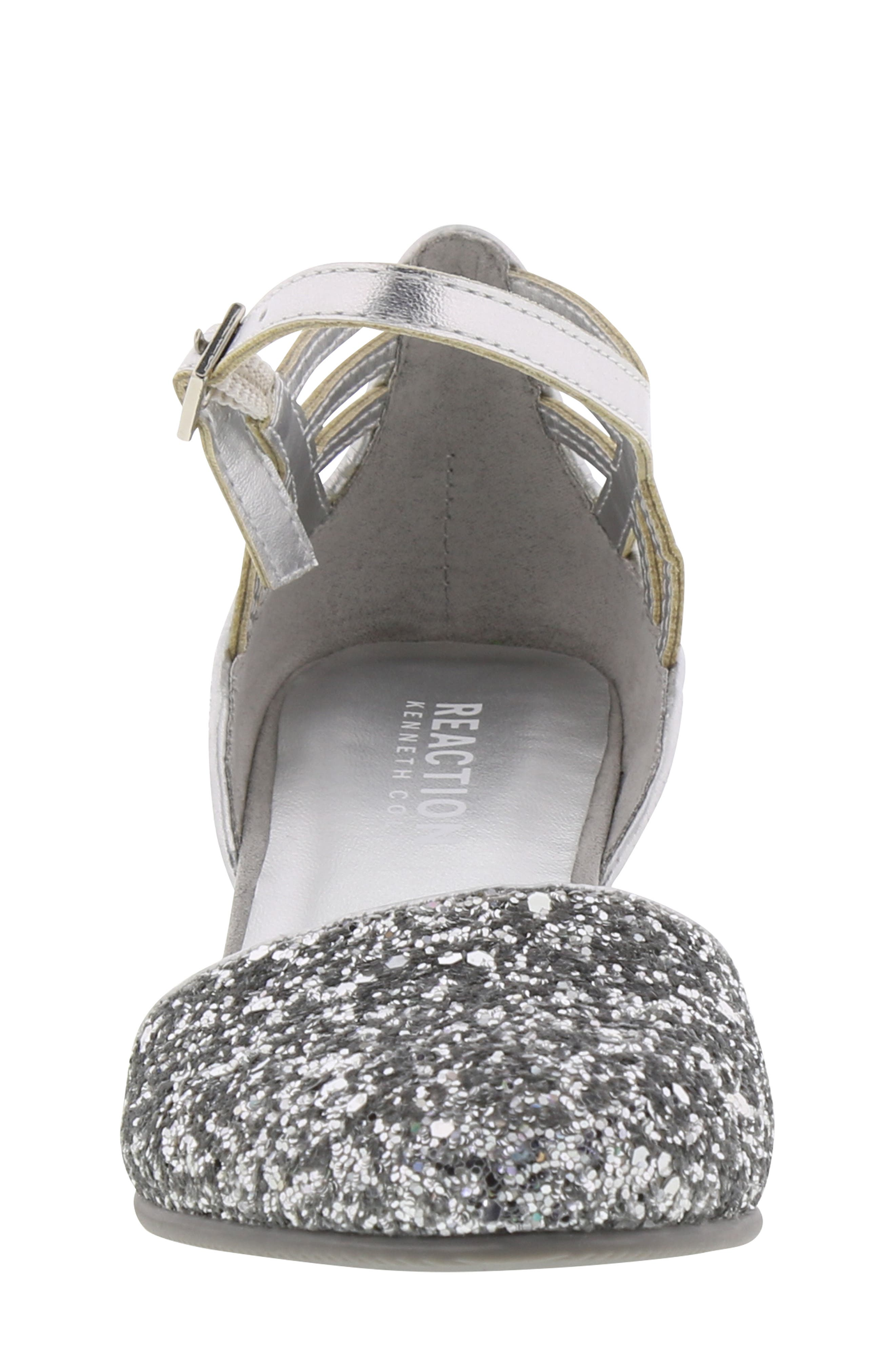 REACTION KENNETH COLE, Kenneth Cole New York Sarah Shine Pump, Alternate thumbnail 4, color, SILVER MULTI