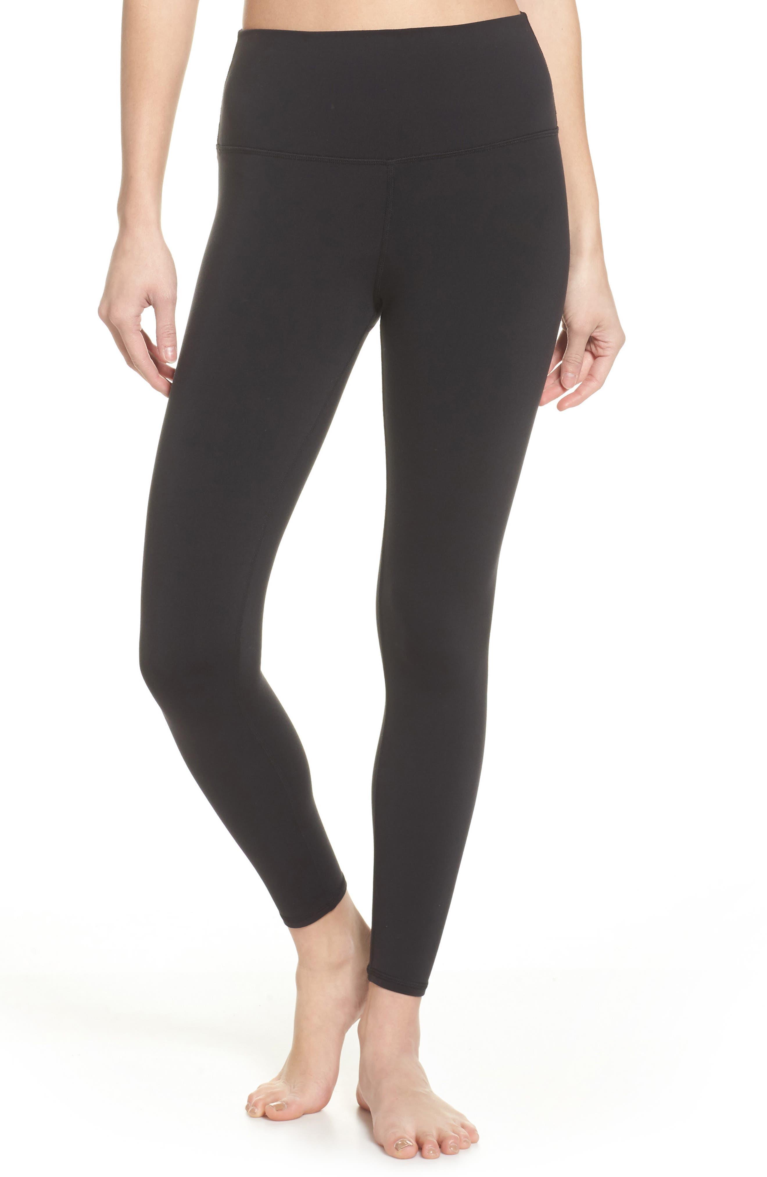 ALO Airbrush 7/8 High Waist Leggings, Main, color, BLACK