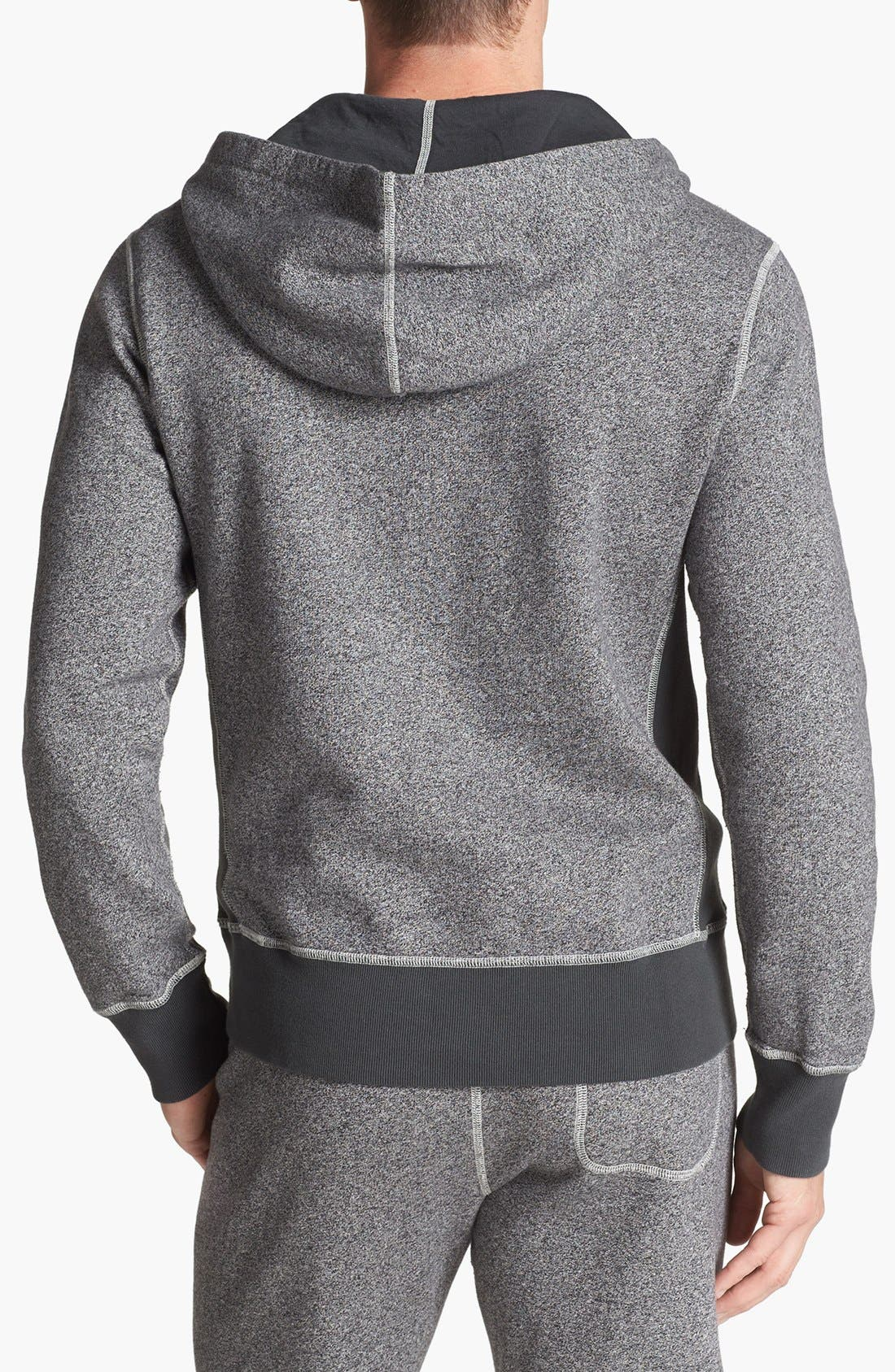 TODD SNYDER + CHAMPION, Marled Hoodie, Alternate thumbnail 3, color, 067