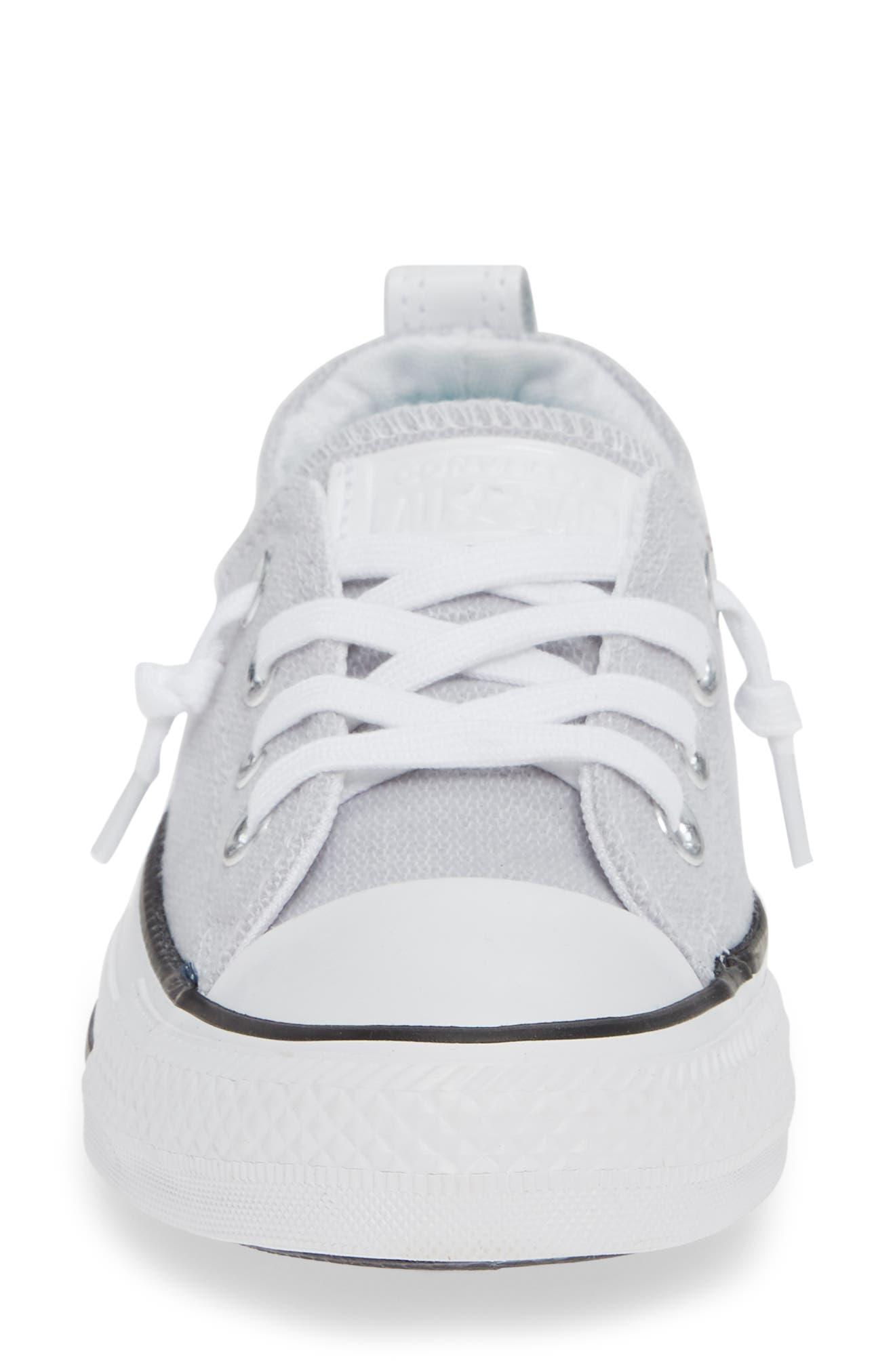 CONVERSE, Chuck Taylor<sup>®</sup> 'Shoreline' Sneaker, Alternate thumbnail 4, color, WHITE