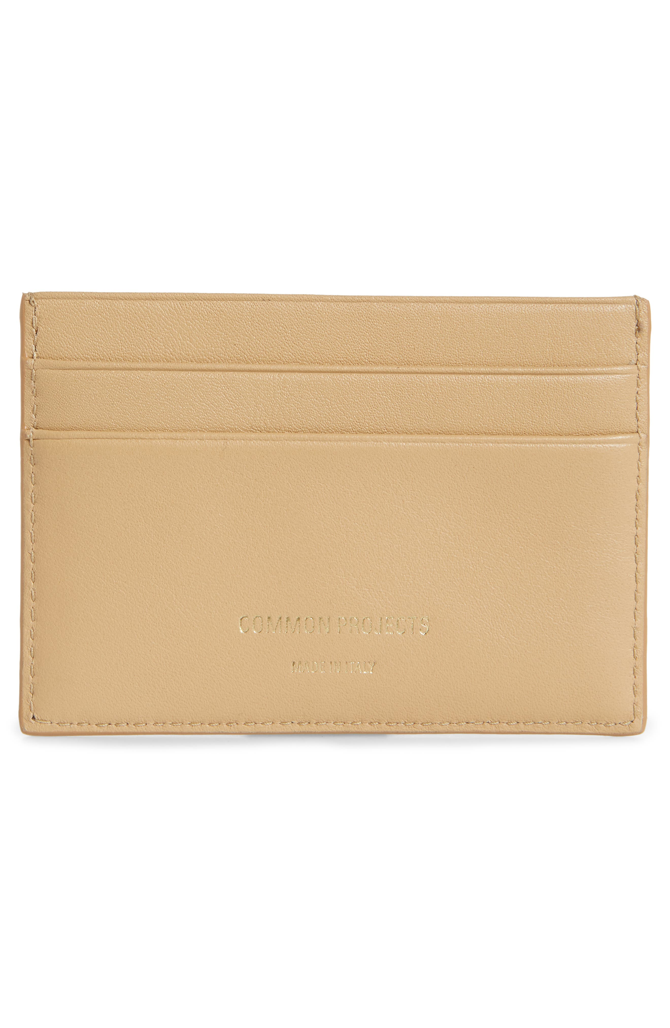 COMMON PROJECTS, Nappa Leather Card Case, Alternate thumbnail 2, color, 250