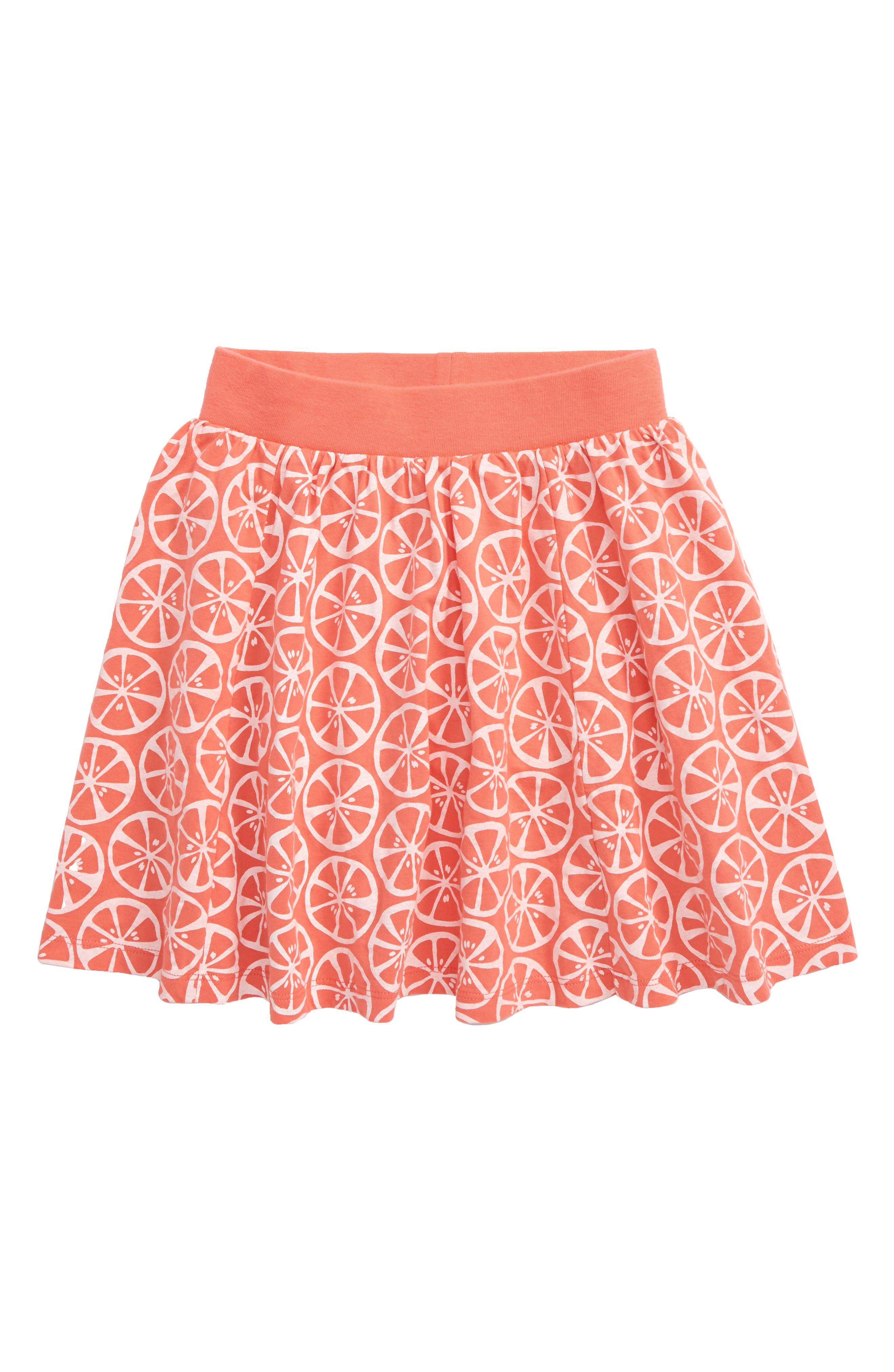 Toddler Girls Tea Collection Print Twirl Skort Size 3T  Orange