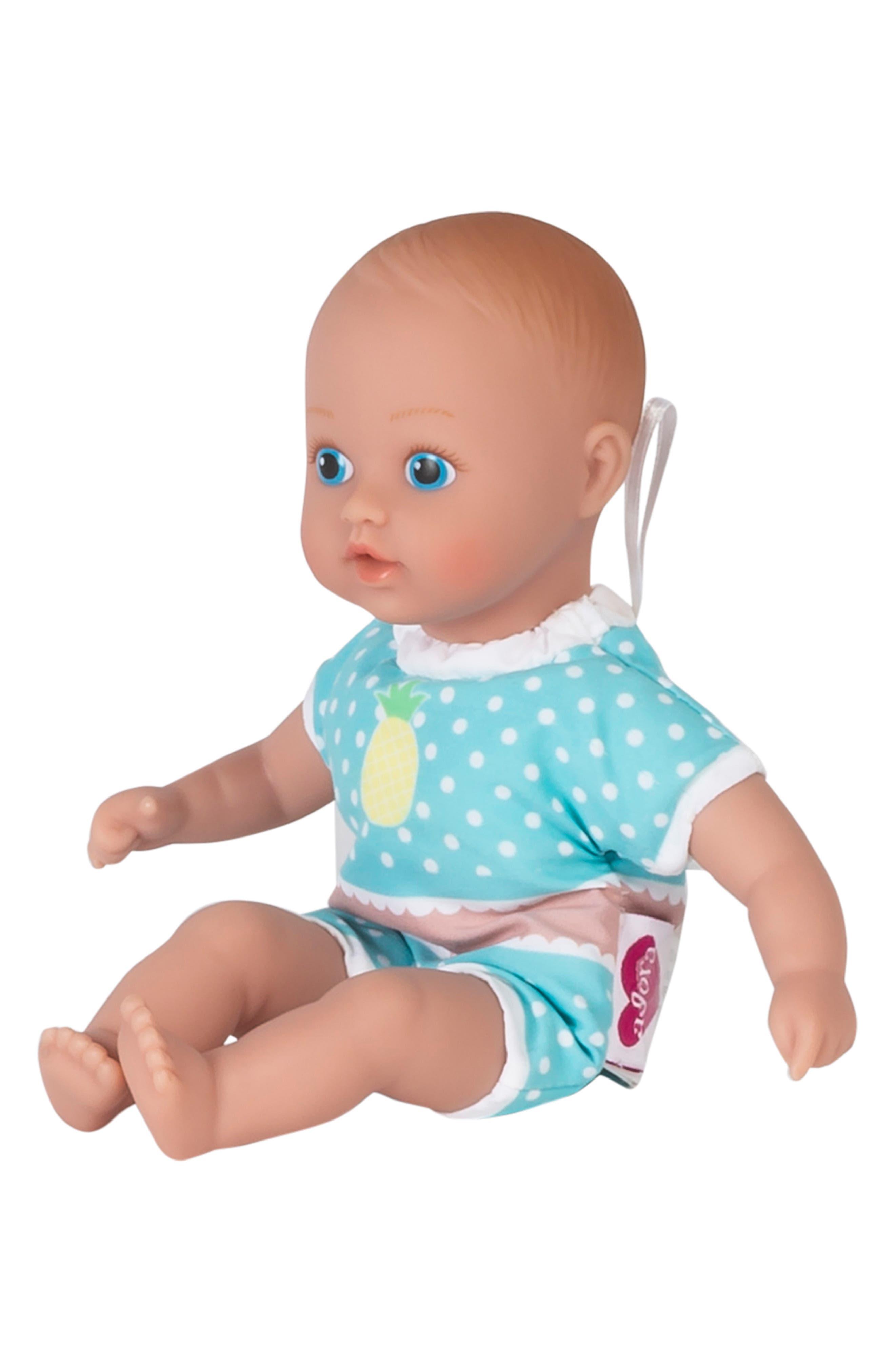 ADORA, Sweet Pineapple Splashtime Baby Doll, Alternate thumbnail 3, color, YELLOW
