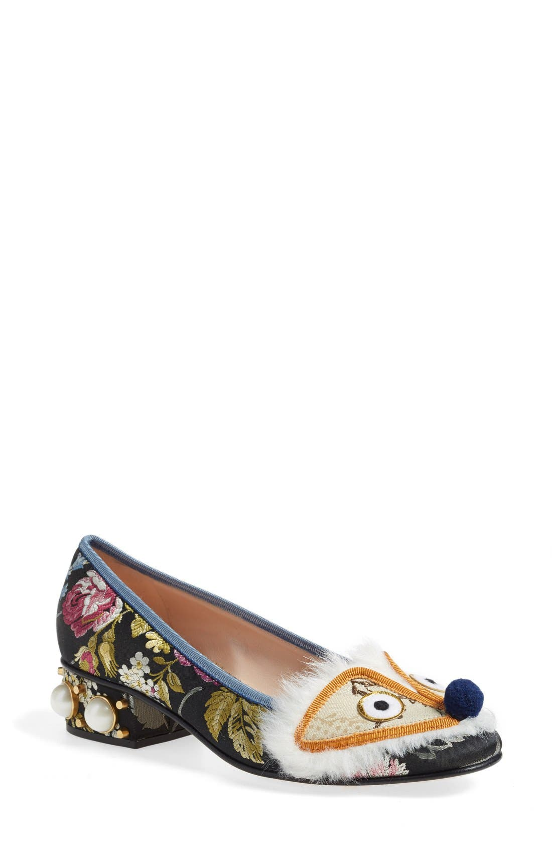 GUCCI 'Kimberly' Embellished Pump, Main, color, 020