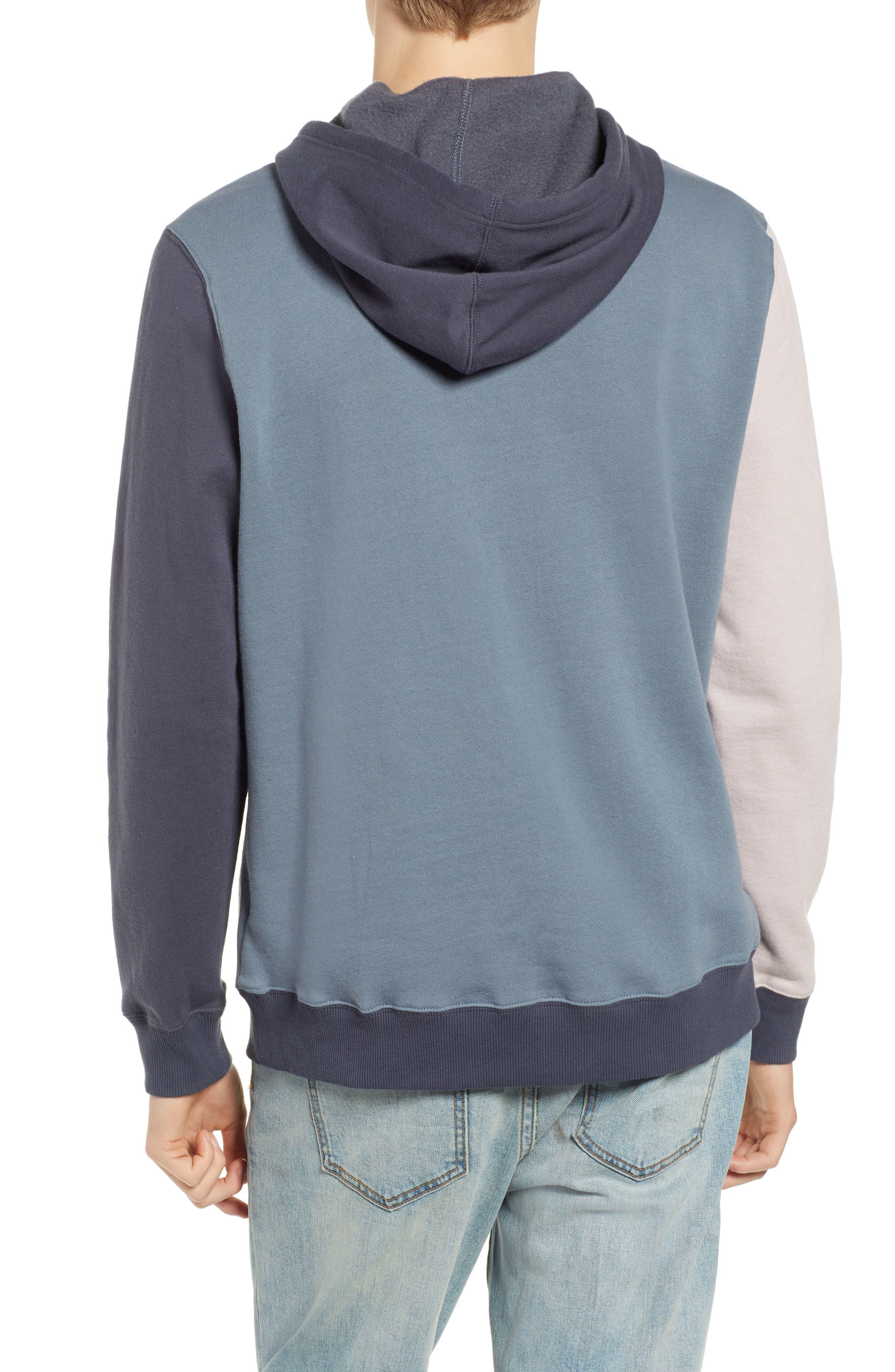 RVCA, Ruddy Hoodie Sweatshirt, Alternate thumbnail 2, color, BLUE SLATE