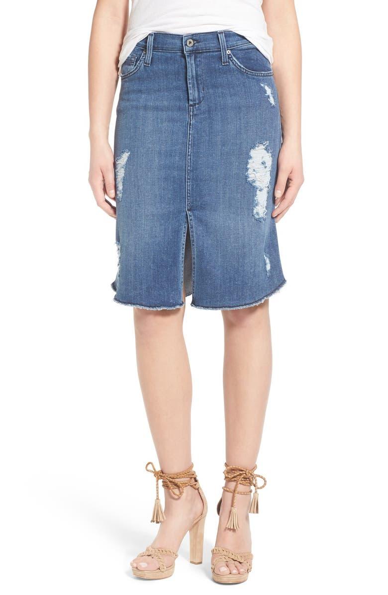 f2613b755 James Jeans Destroyed Denim Skirt (Forever Blue)   Nordstrom