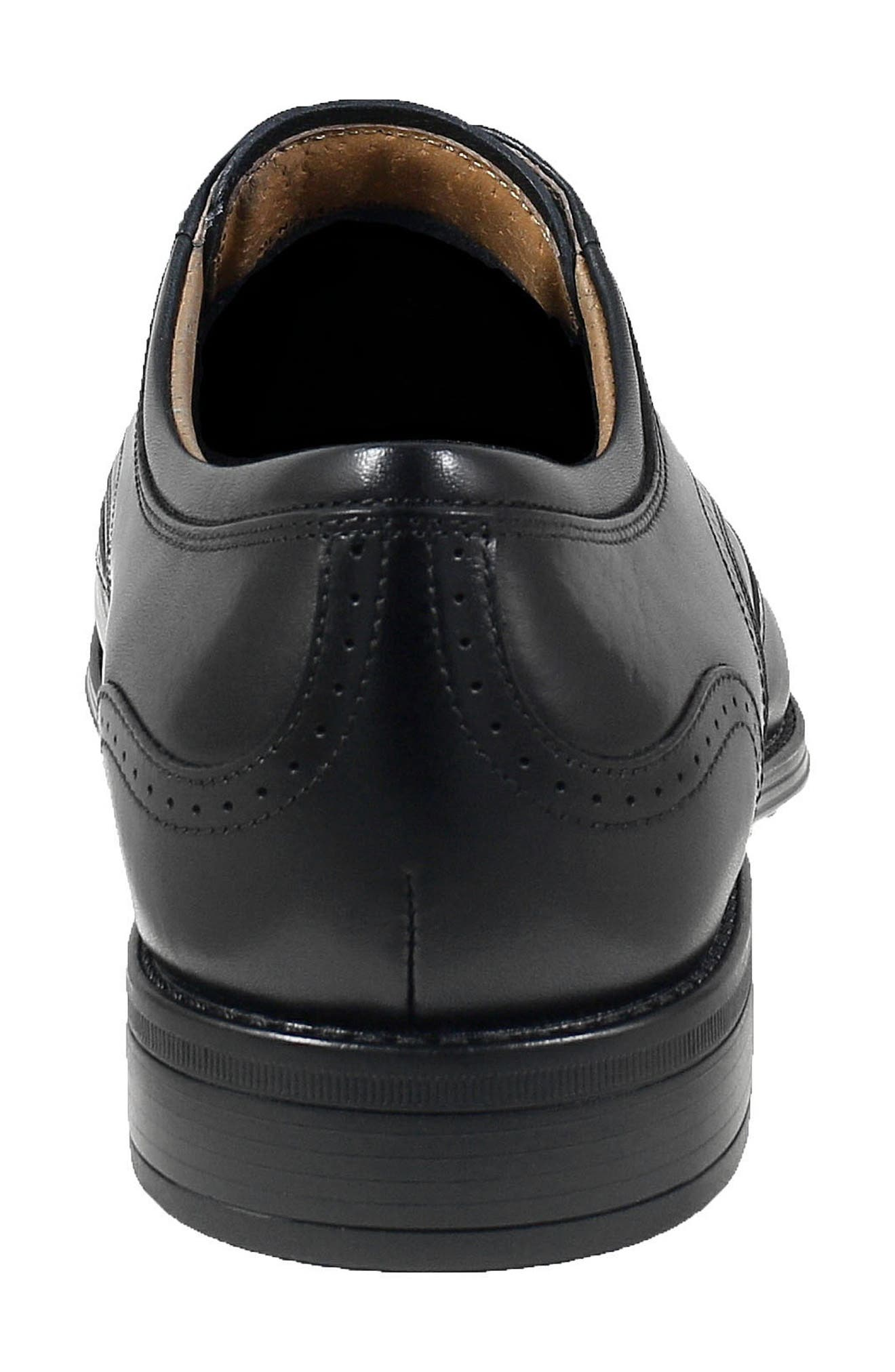 FLORSHEIM, Cardinelli Wingtip, Alternate thumbnail 7, color, BLACK LEATHER