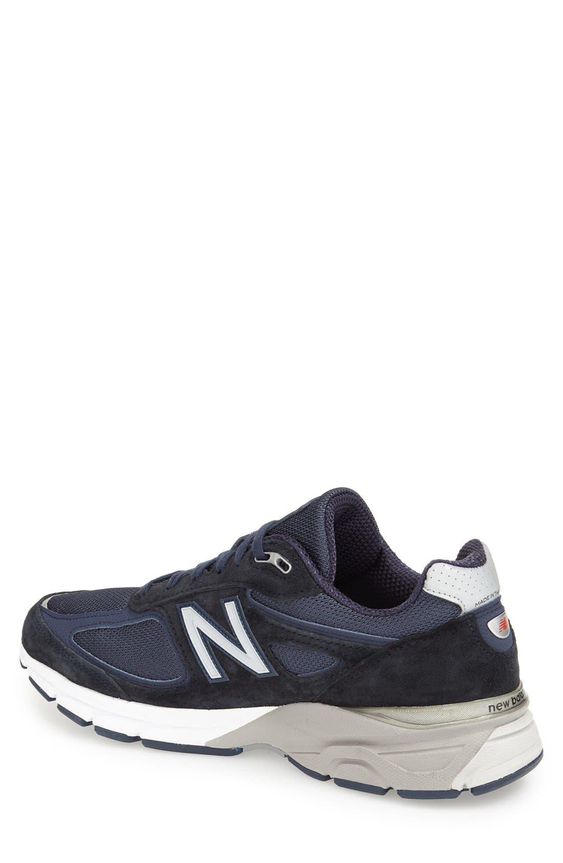 NEW BALANCE, '990' Running Shoe, Alternate thumbnail 2, color, NAVY