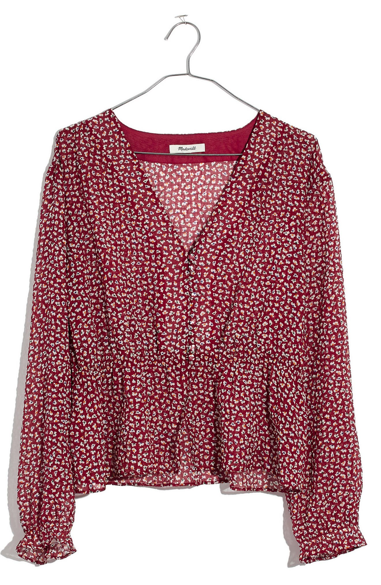 MADEWELL, Overture Top, Alternate thumbnail 5, color, CONFETTI BRIGHT IVORY