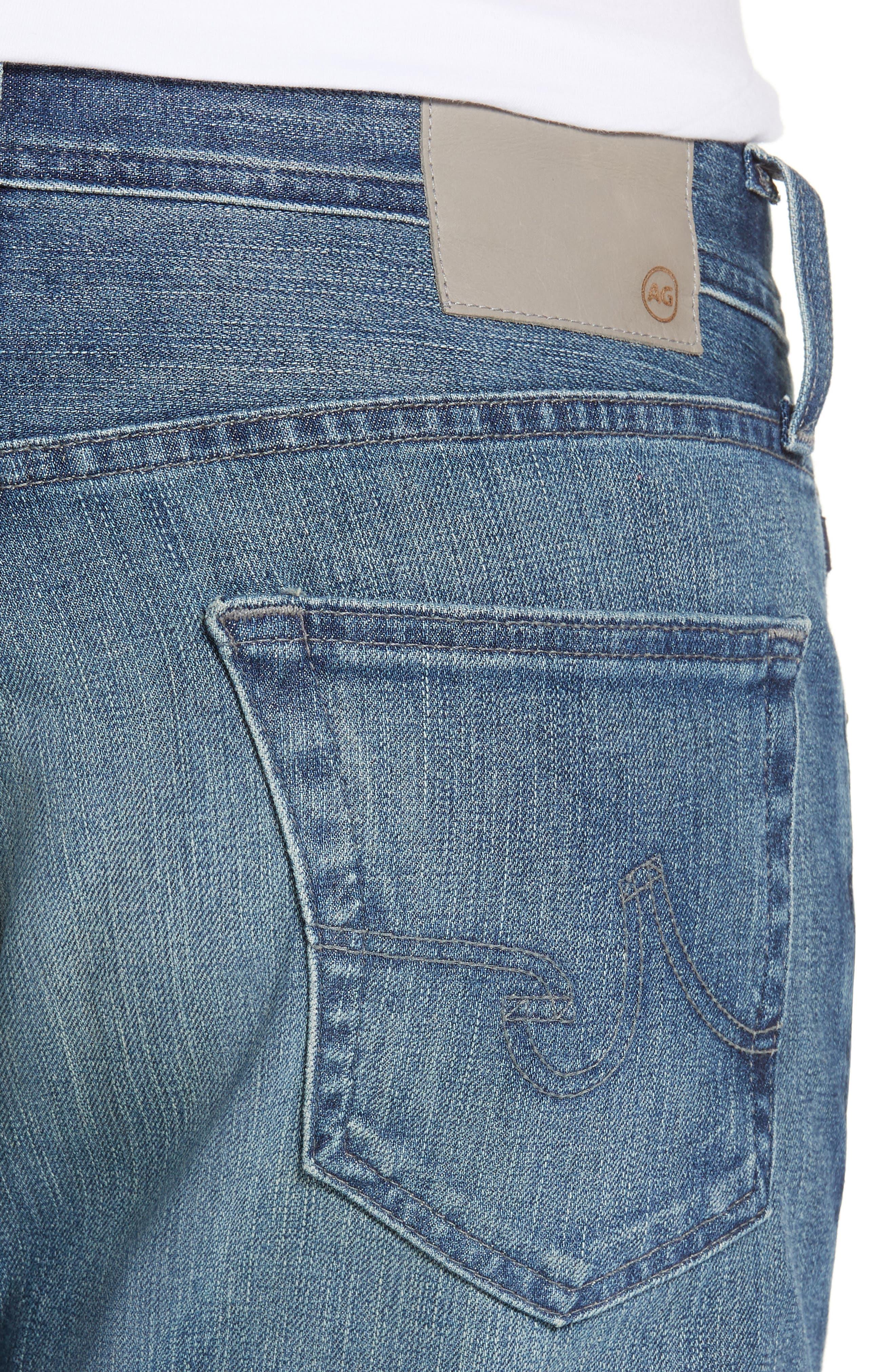 AG, Graduate Slim Straight Leg Jeans, Alternate thumbnail 5, color, APERTURE