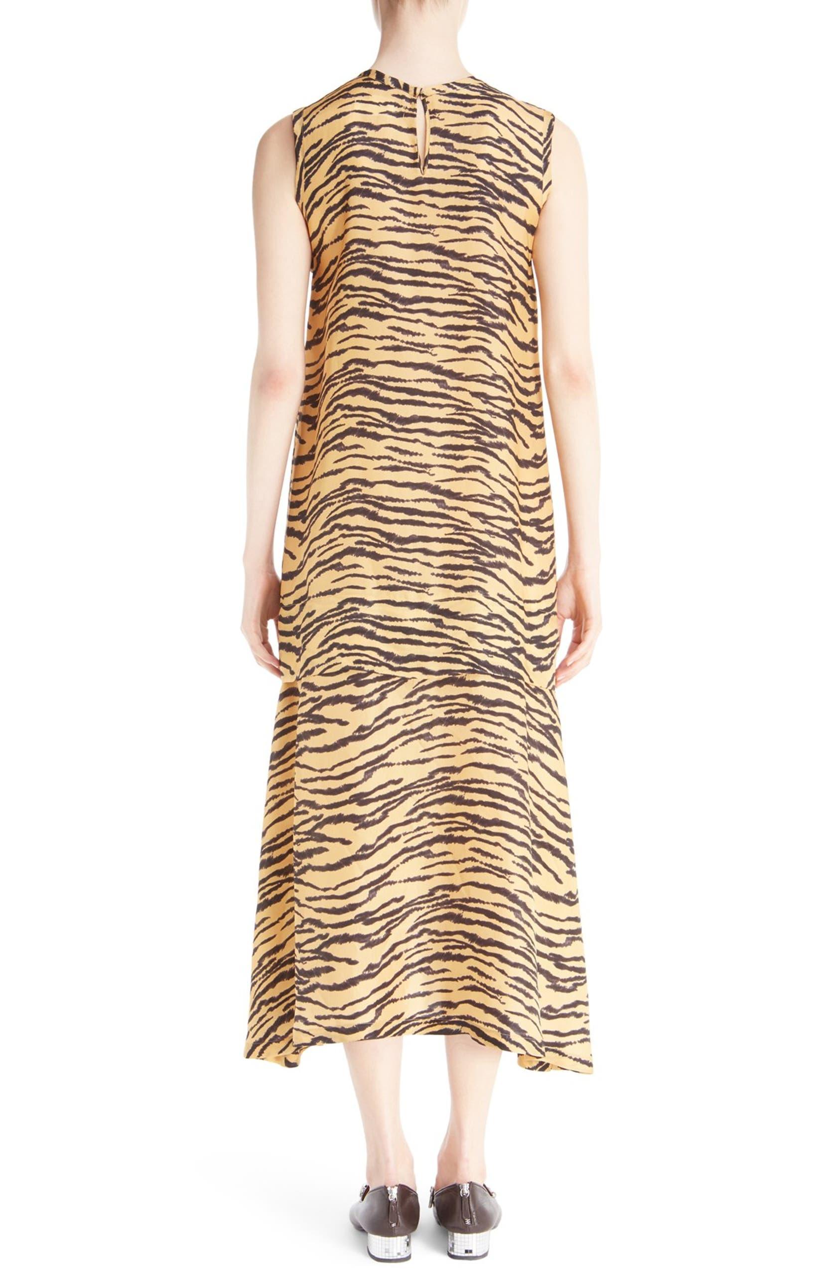 7b14af72031a2 Toga Sleeveless Tiger Print Maxi Dress   Nordstrom