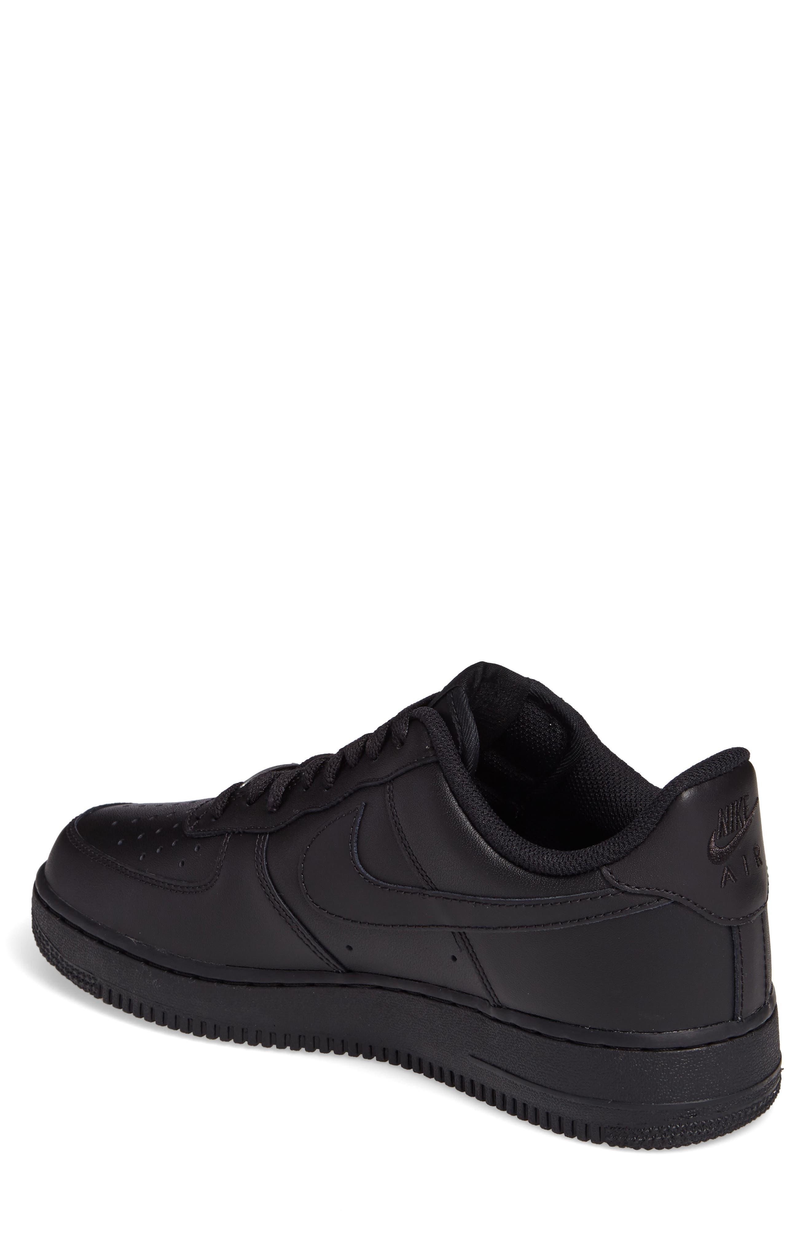 NIKE, Air Force 1 '07 Sneaker, Alternate thumbnail 2, color, BLACK/ BLACK