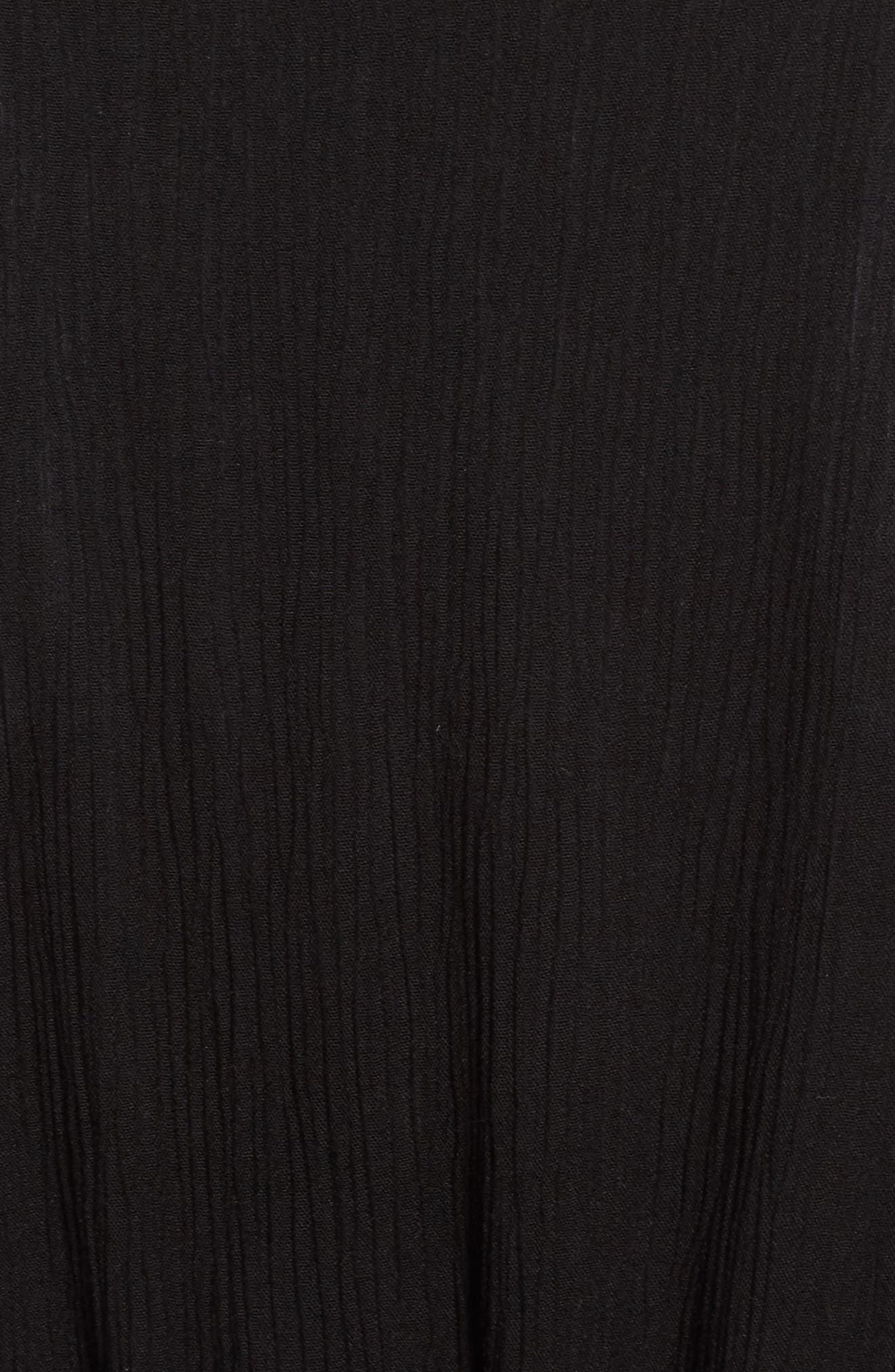 TREASURE & BOND, Shimmer Duster, Alternate thumbnail 6, color, BLACK