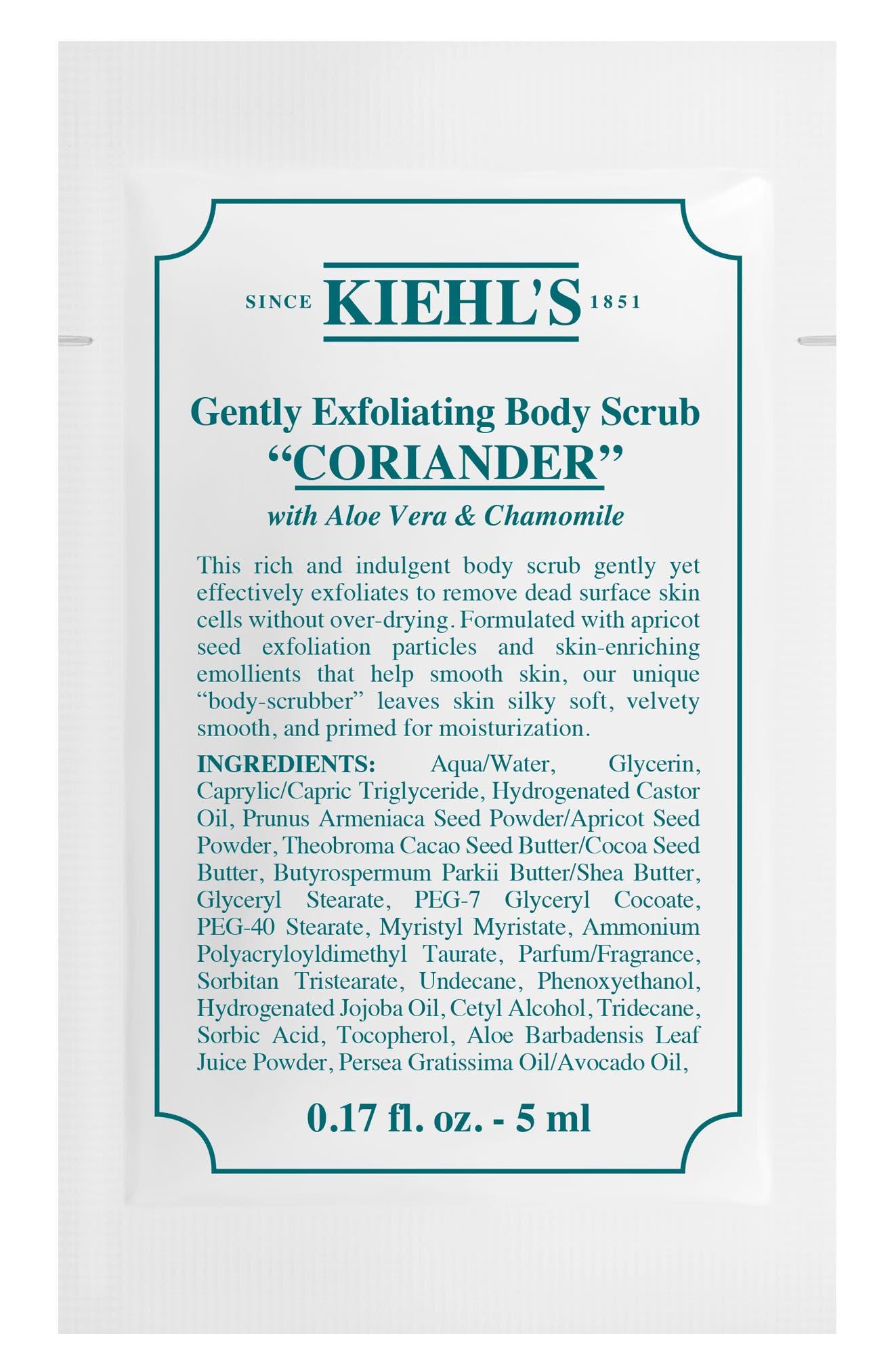 KIEHL'S SINCE 1851, Gentle Exfoliating Body Scrub, Alternate thumbnail 3, color, CORIANDER