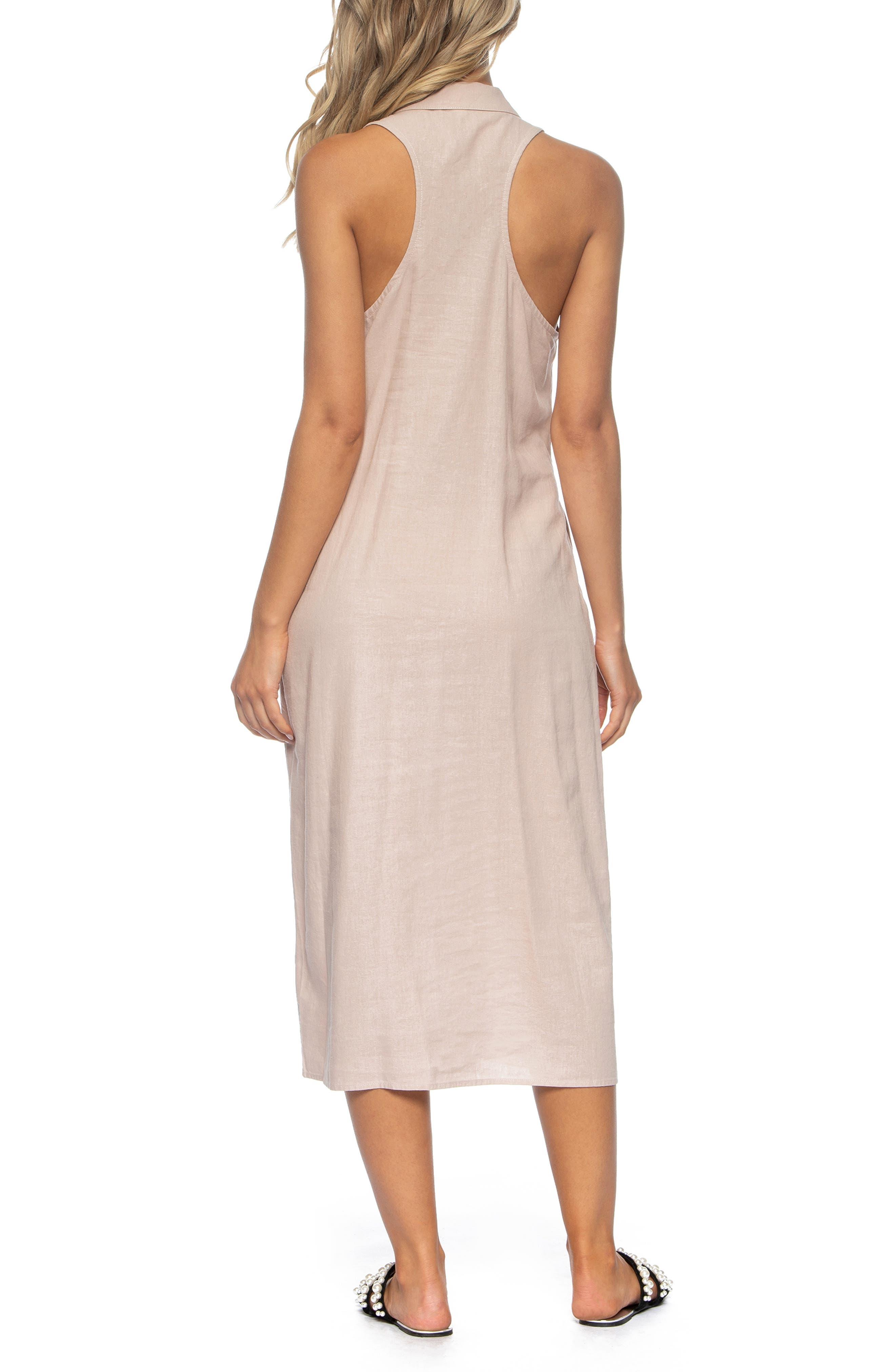 TAVIK, Maggie Cover-Up Midi Dress, Alternate thumbnail 2, color, SEASHELL