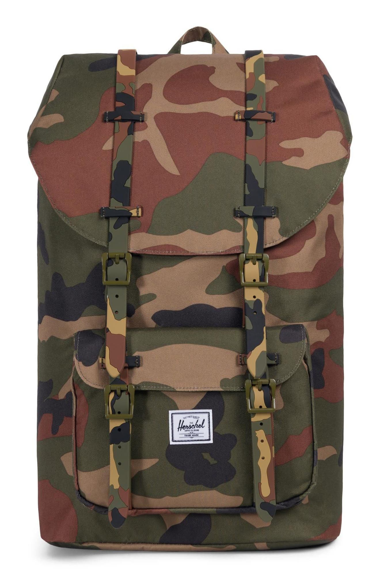 HERSCHEL SUPPLY CO., Little America Backpack, Main thumbnail 1, color, WOODLAND CAMO