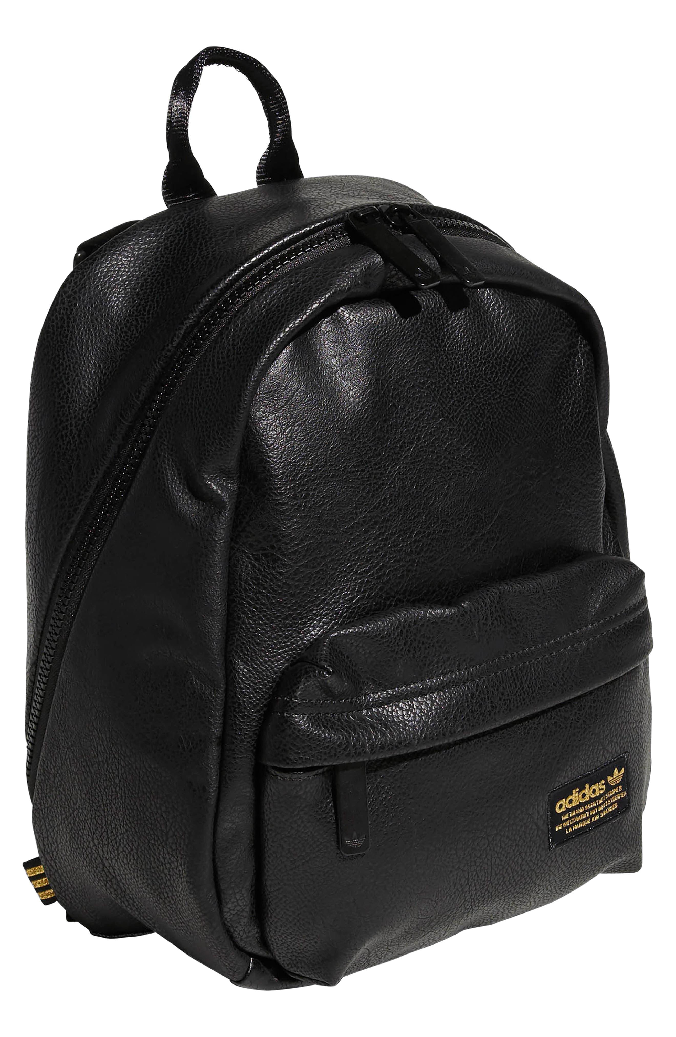 ADIDAS ORIGINALS, National Compact Backpack, Alternate thumbnail 4, color, 001