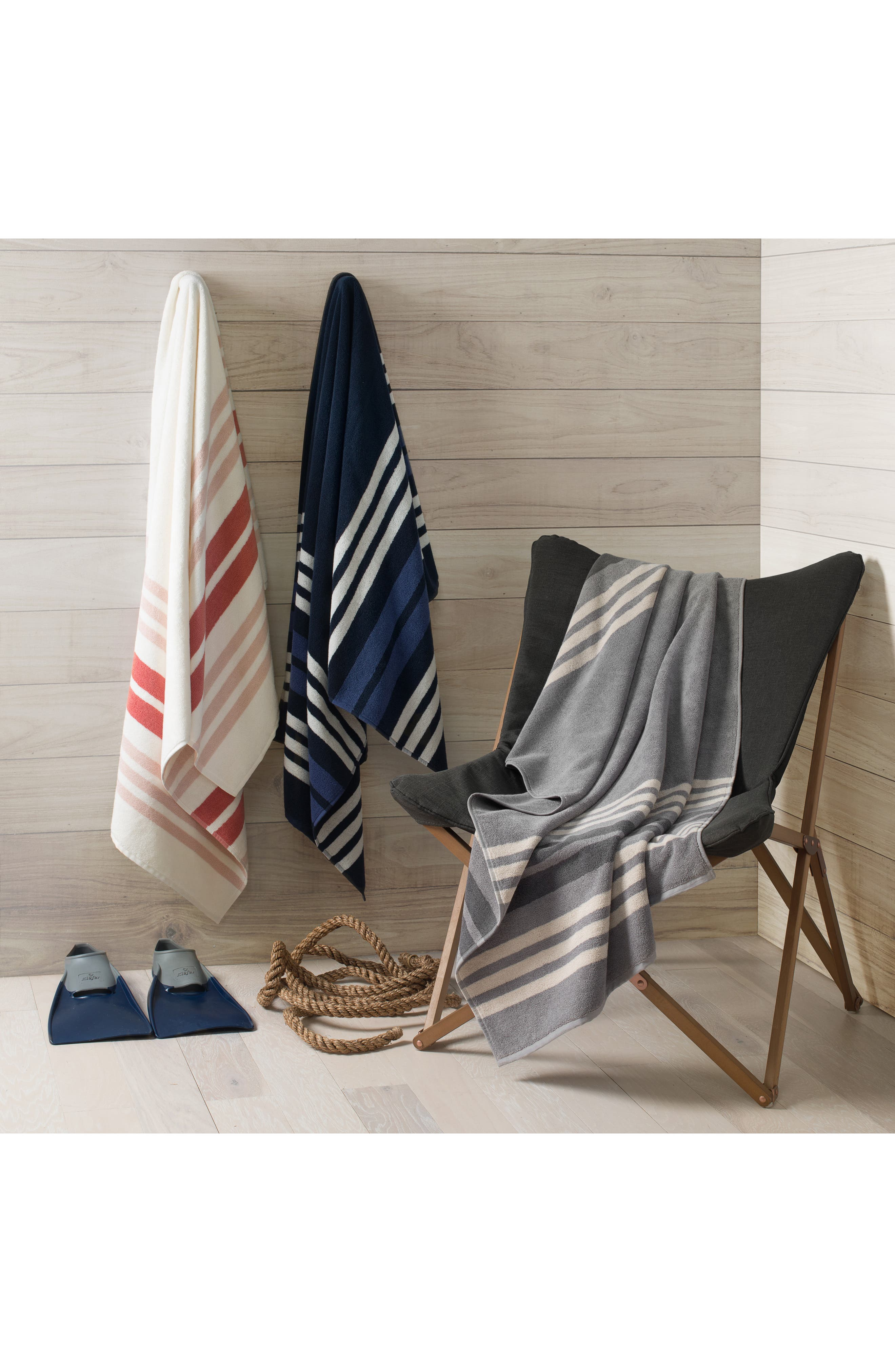 UGG<SUP>®</SUP>, Monica Stripe Beach Towel, Alternate thumbnail 2, color, SEAL MULTI