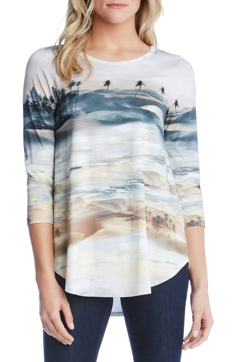 Karen Kane Tops PALM TREE TEE