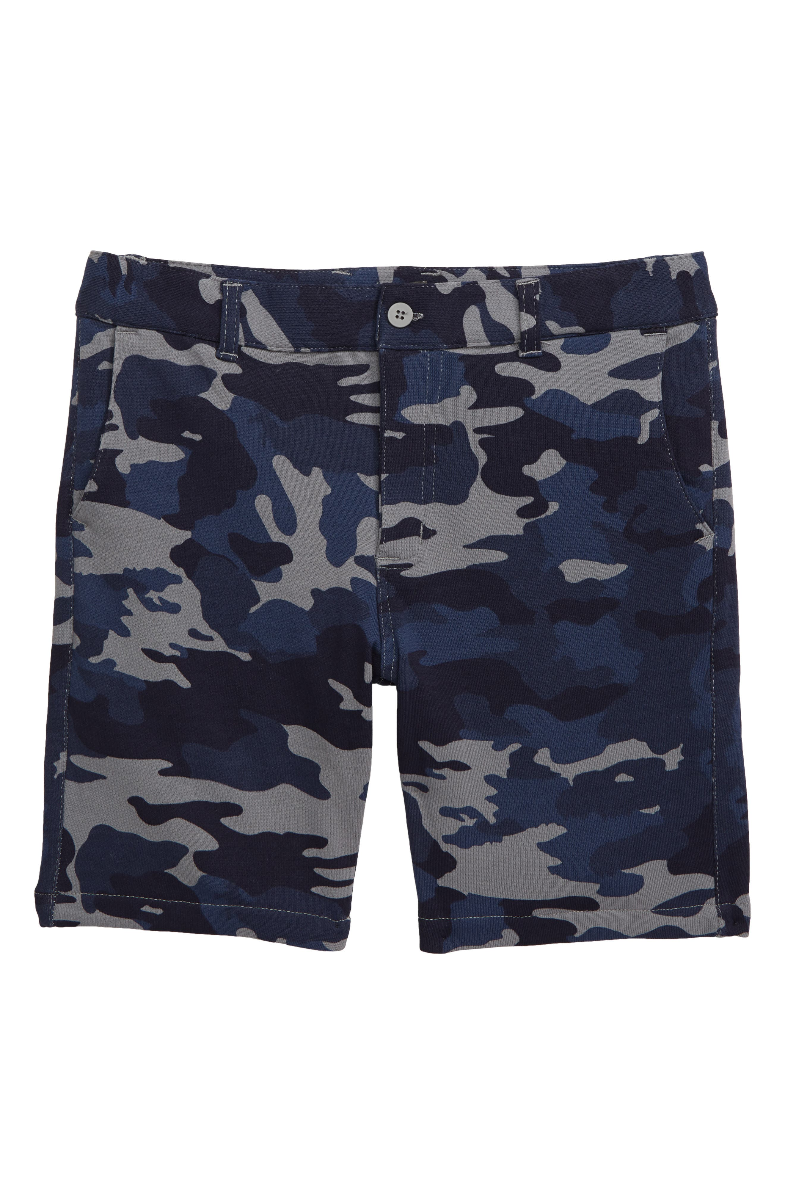 SLATE & STONE Print Shorts, Main, color, BLUE CAMO