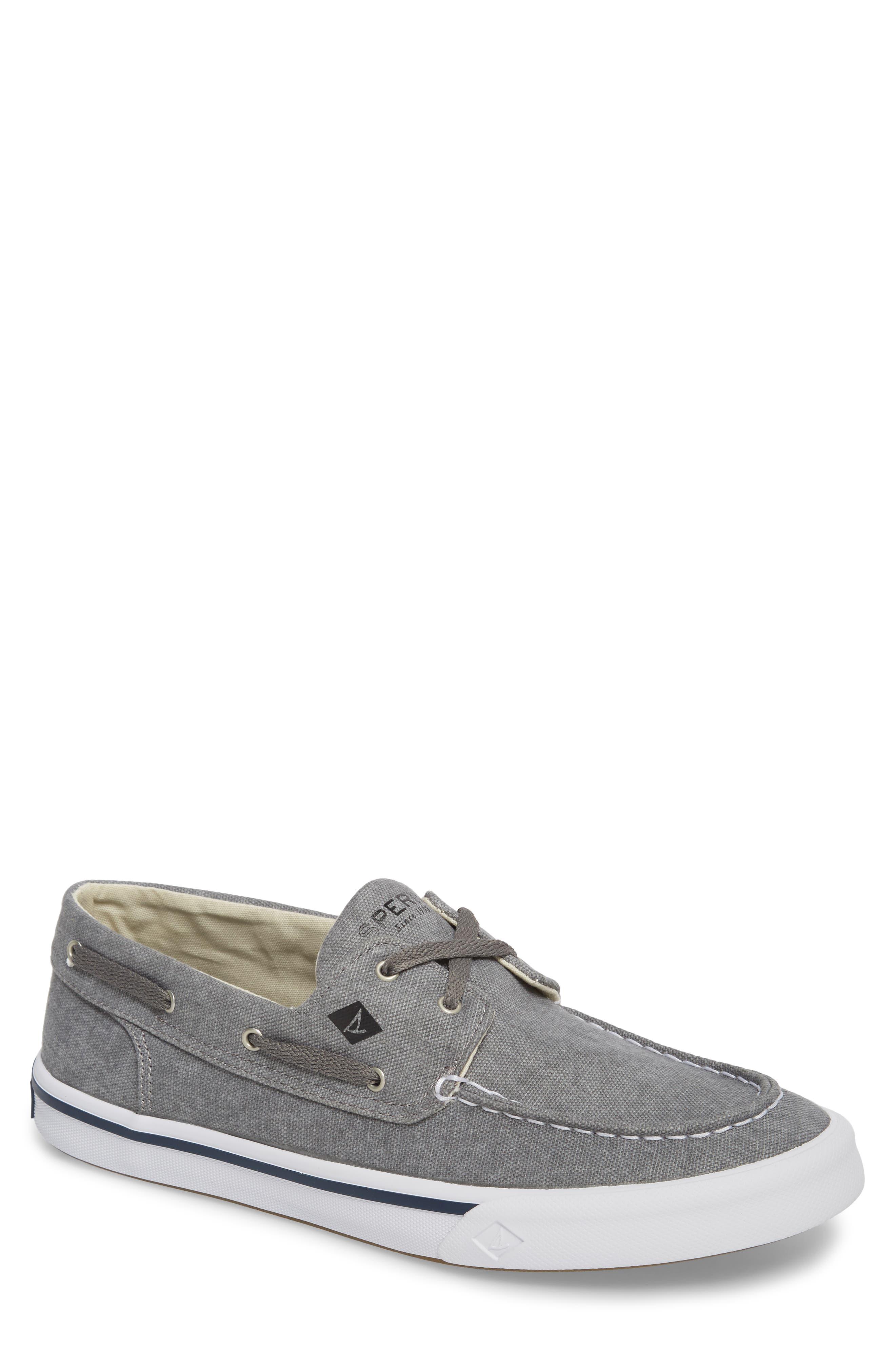 SPERRY, Striper 2 Boat Shoe, Main thumbnail 1, color, GREY CANVAS
