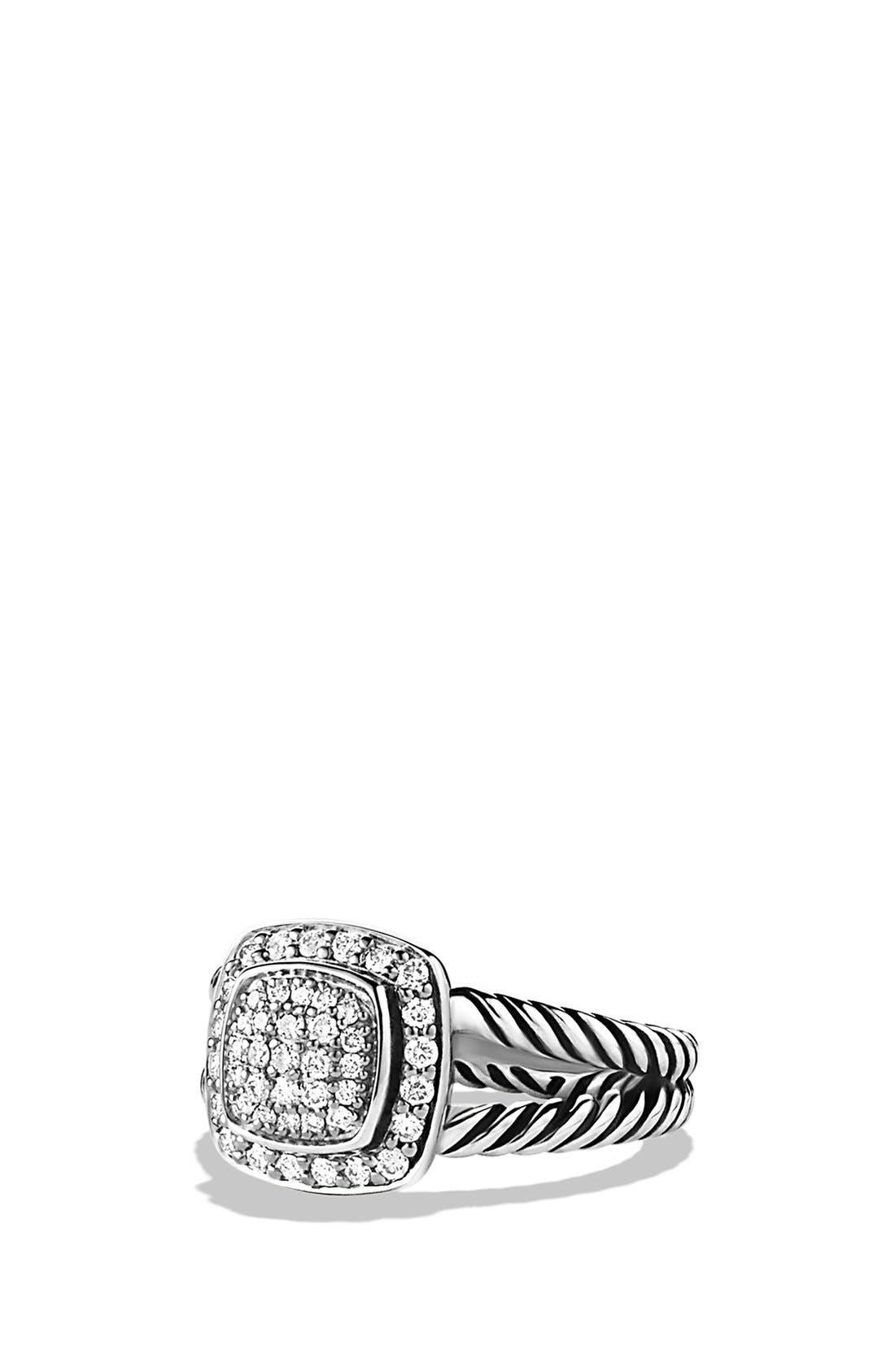 DAVID YURMAN, 'Albion' Petite Ring with Diamonds, Main thumbnail 1, color, DIAMOND