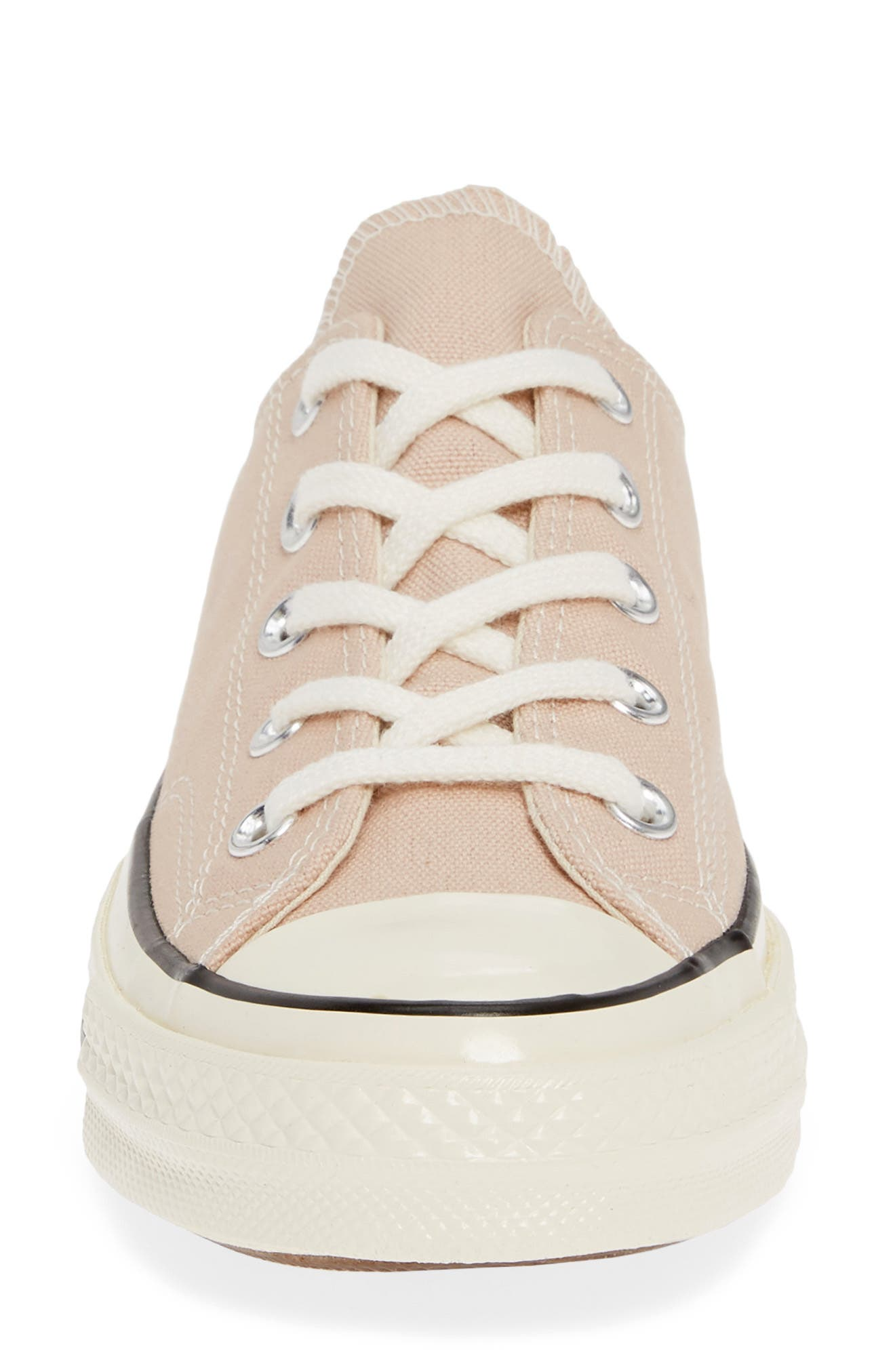 CONVERSE, Chuck Taylor<sup>®</sup> All Star<sup>®</sup> Chuck 70 Ox Sneaker, Alternate thumbnail 4, color, PARTICLE BEIGE/ BLACK/ EGRET
