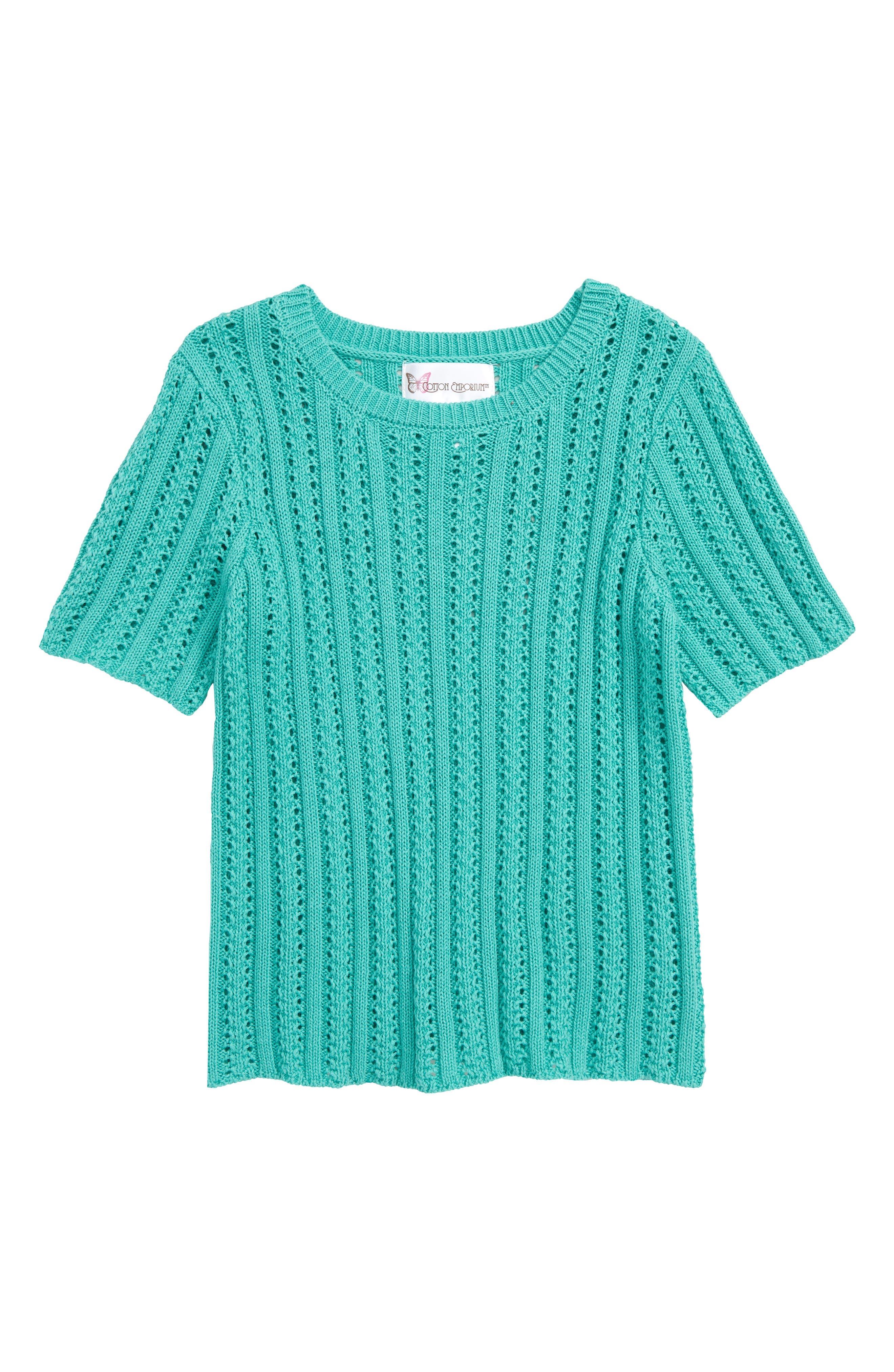 Girls Cotton Emporium Loose Knit Sweater Size XL (16)  Green