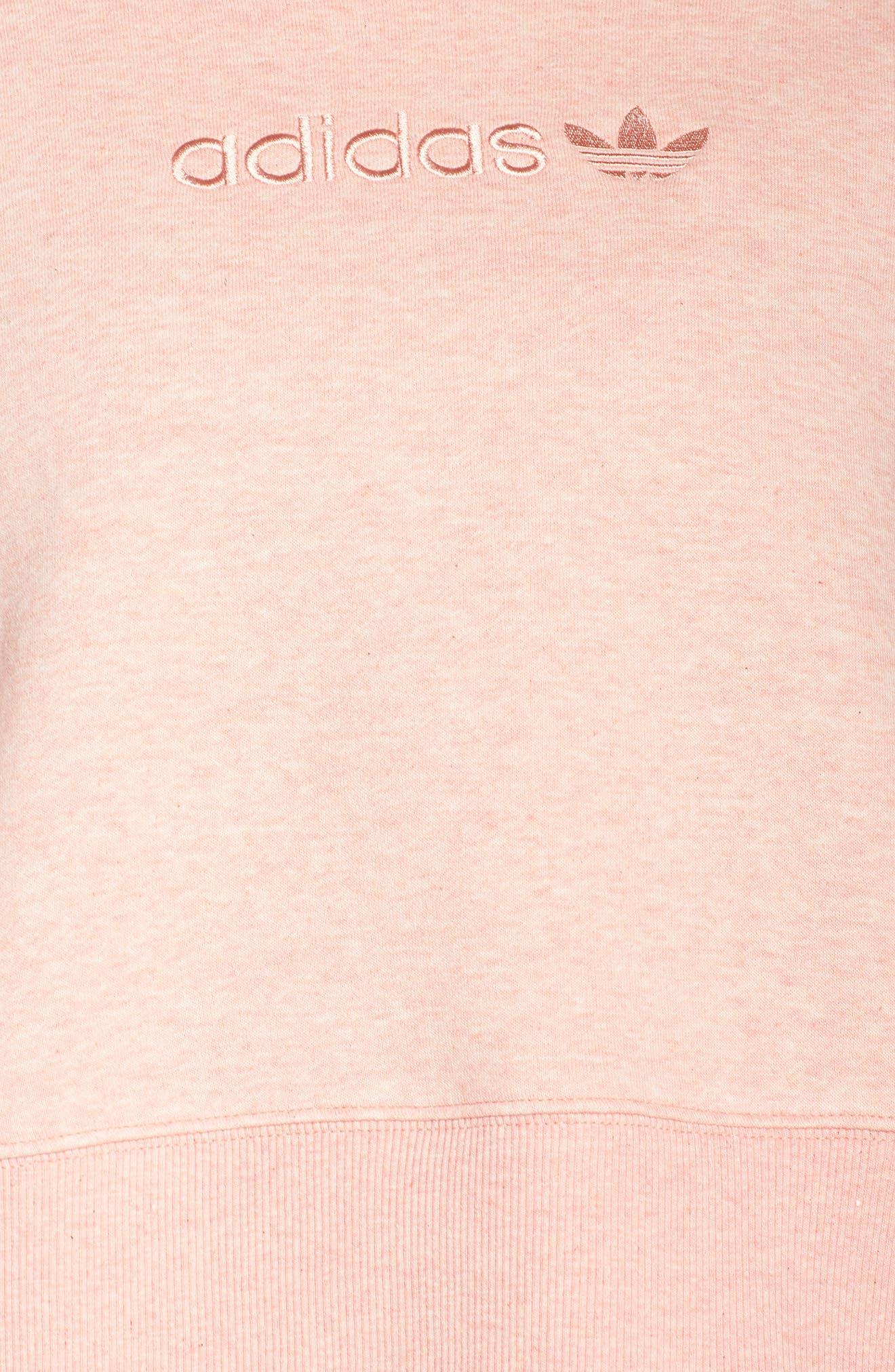 ADIDAS ORIGINALS, adidas Coeeze Crop Sweatshirt, Alternate thumbnail 6, color, 650