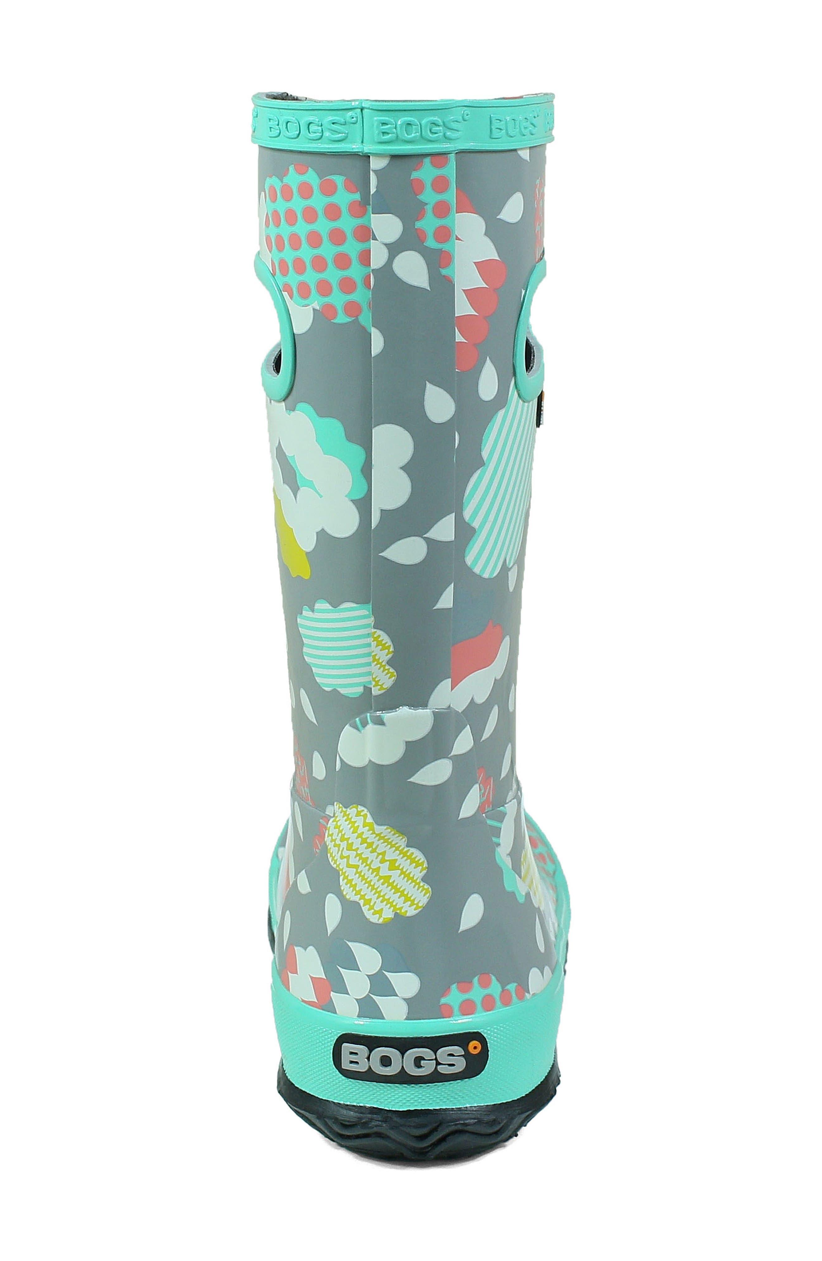 BOGS, Clouds Waterproof Rain Boot, Alternate thumbnail 7, color, 062