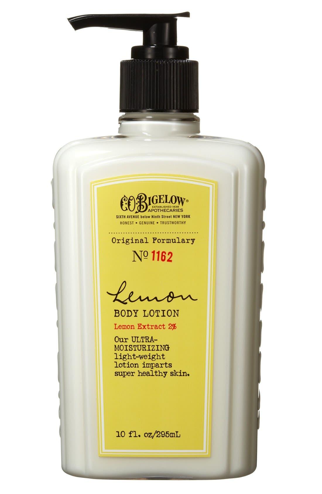 C.O. BIGELOW  Lemon Body Lotion, Main, color, NO COLOR