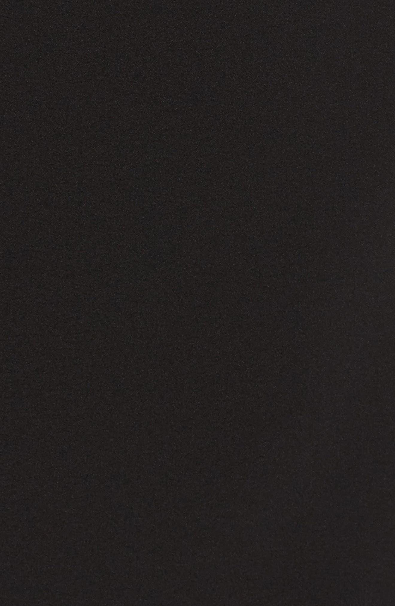 FELICITY & COCO, Rita Wrap Dress, Alternate thumbnail 7, color, BLACK